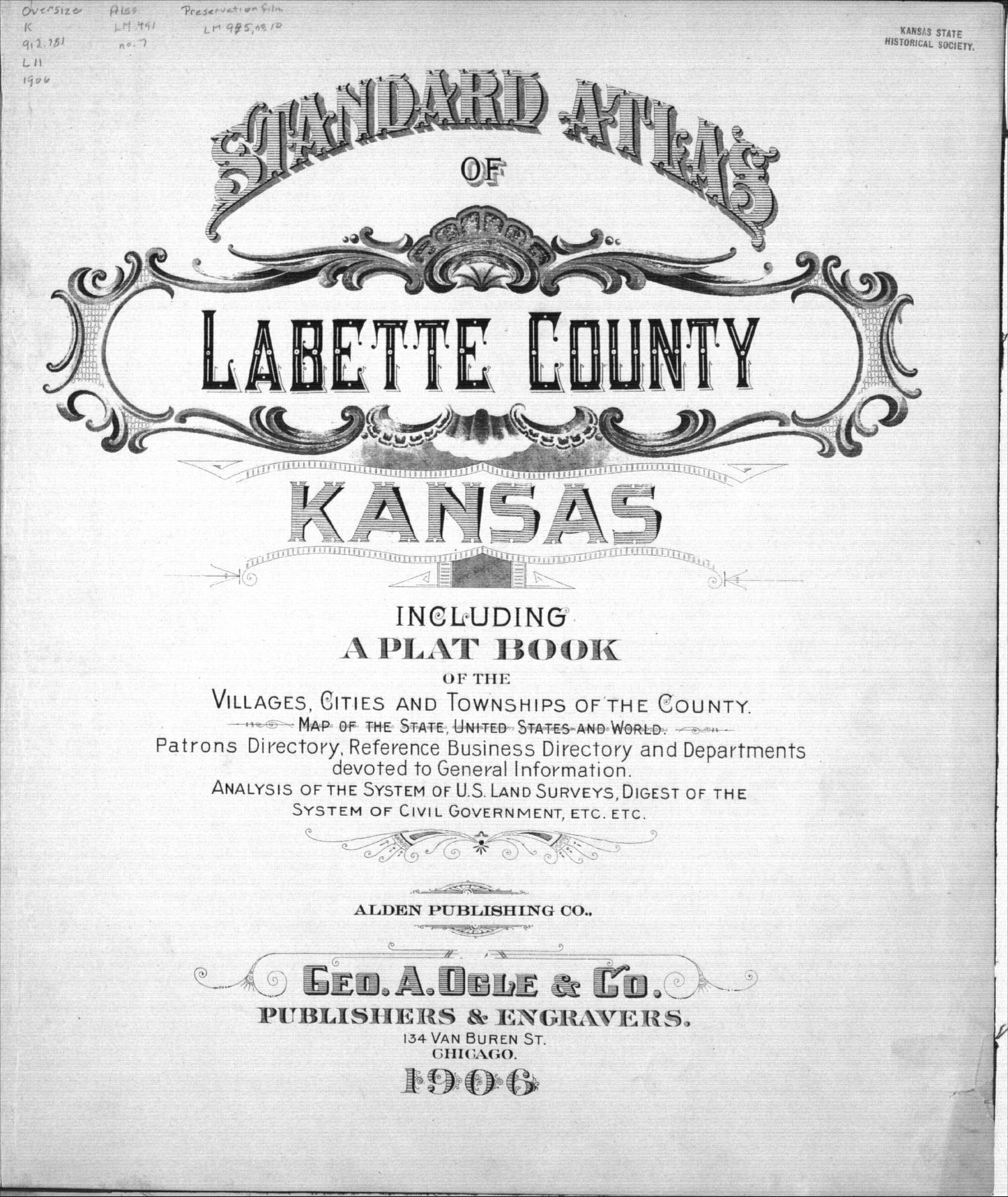 Standard atlas of Labette County, Kansas - Title Page