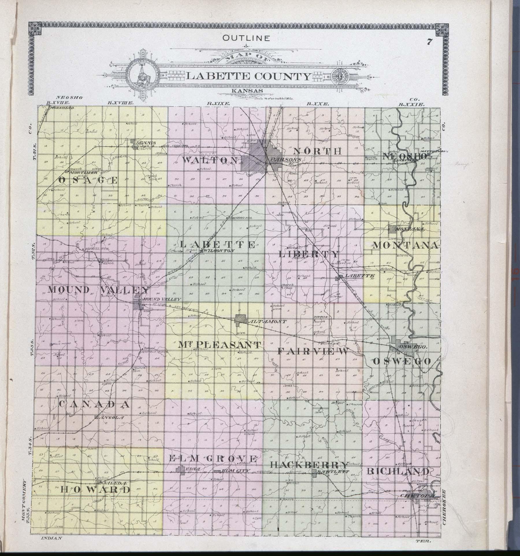 Standard atlas of Labette County, Kansas - 7