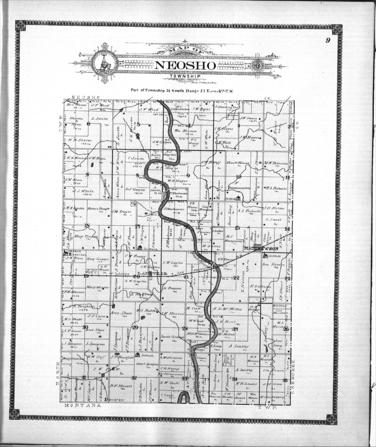 Standard atlas of Labette County, Kansas - 9