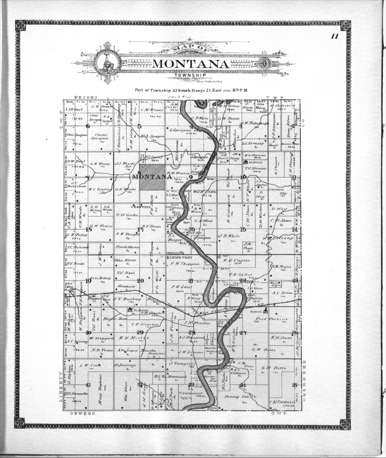 Standard atlas of Labette County, Kansas - 11