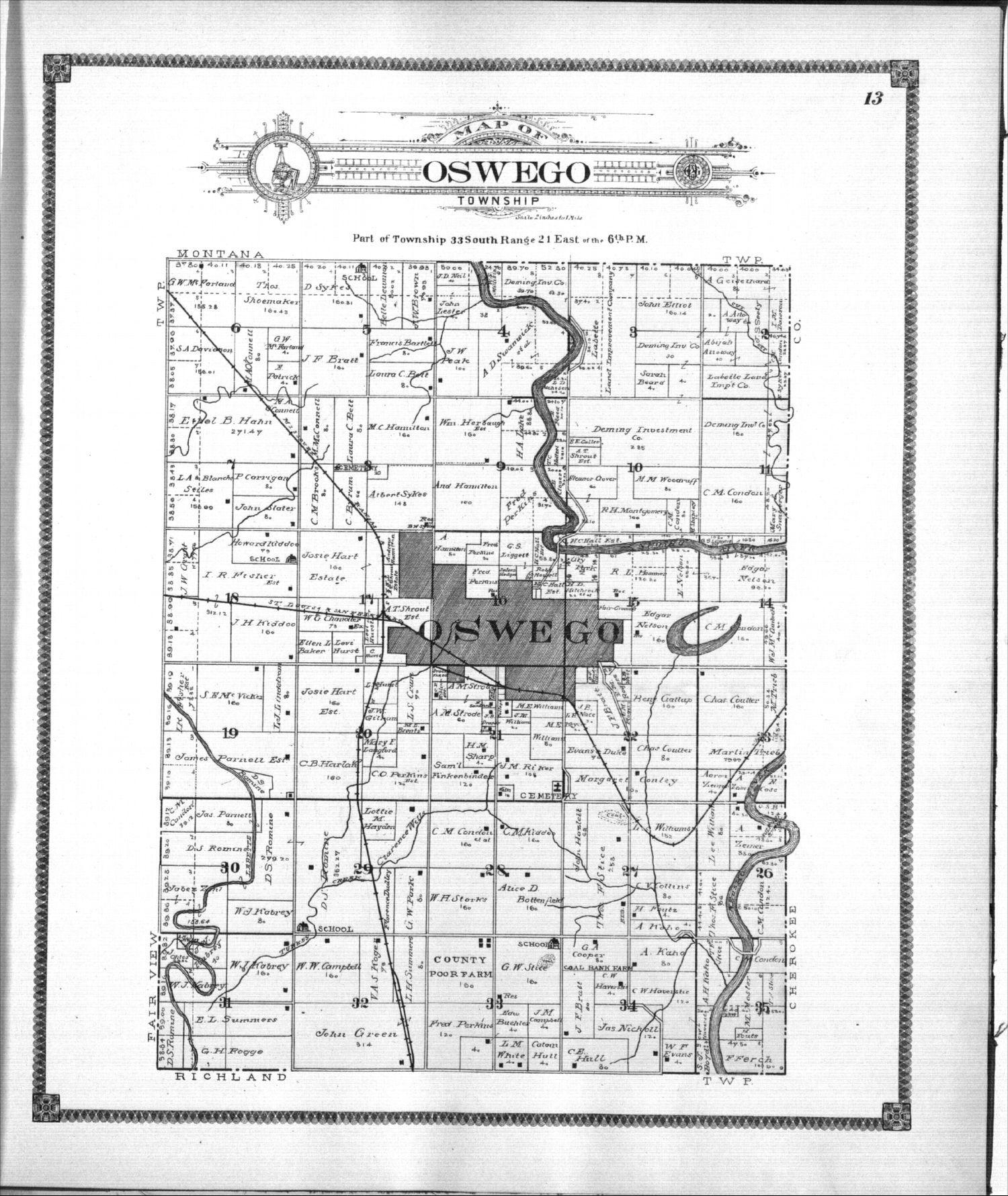 Standard atlas of Labette County, Kansas - 13