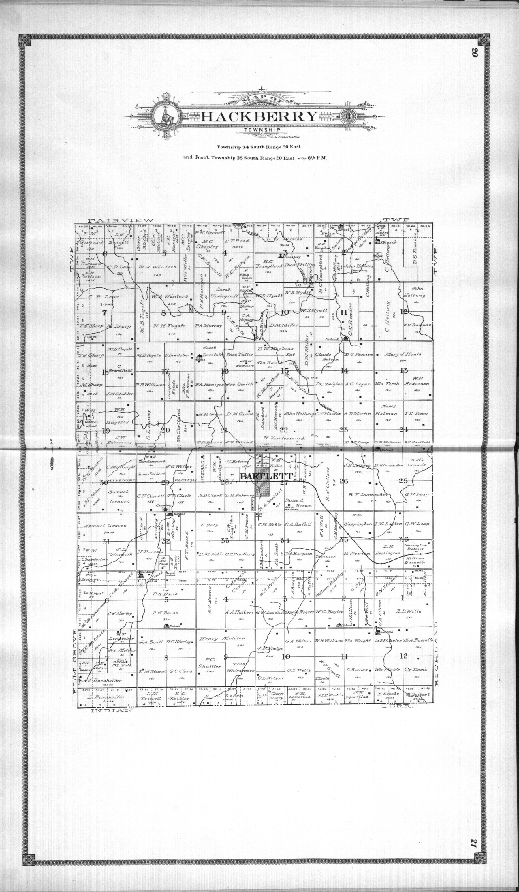 Standard atlas of Labette County, Kansas - 20 & 21