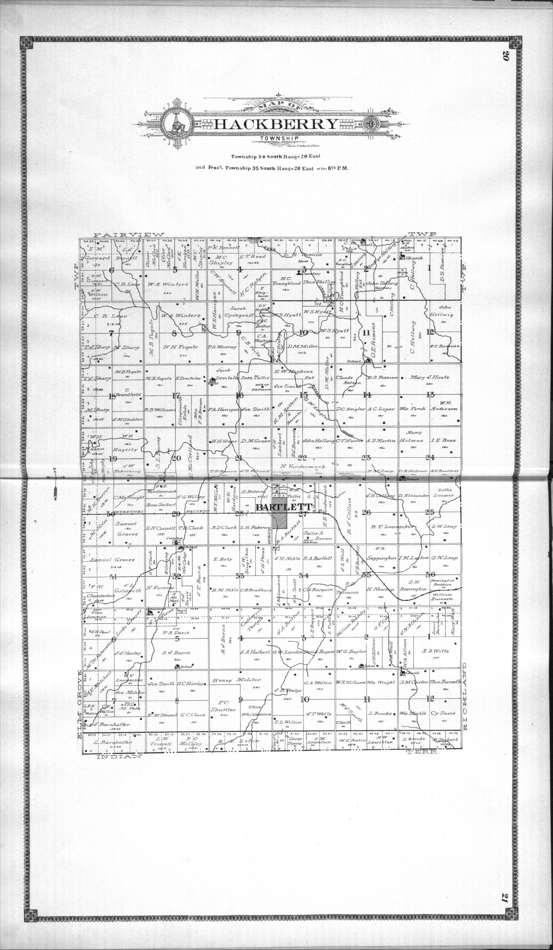 Standard atlas of Labette County, Kansas - 20 & 21