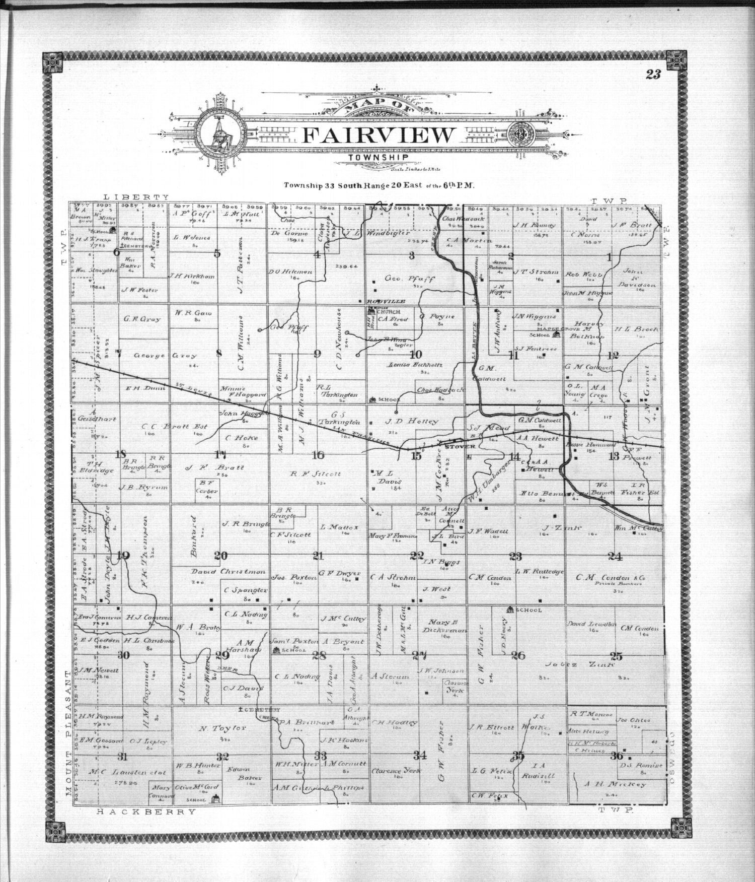 Standard atlas of Labette County, Kansas - 23
