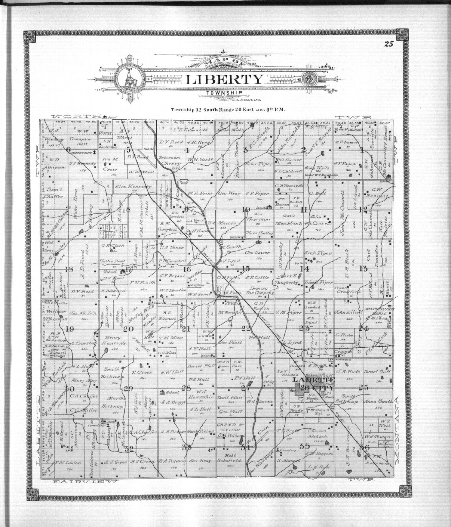 Standard atlas of Labette County, Kansas - 25