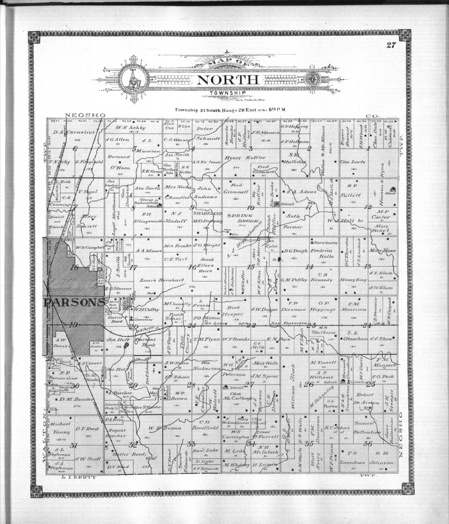 Standard atlas of Labette County, Kansas - 27