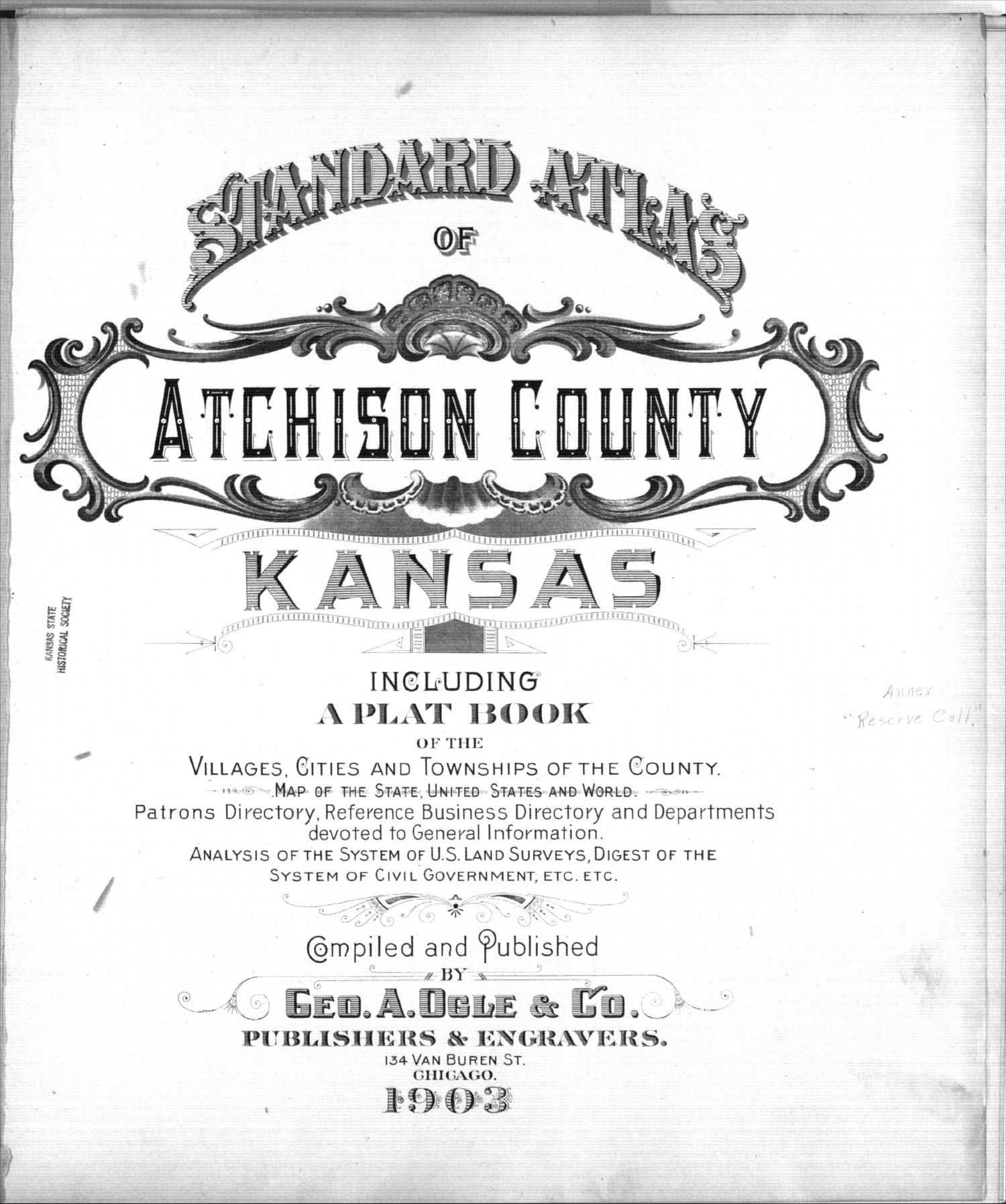 Standard atlas of Atchison County, Kansas - Title Page