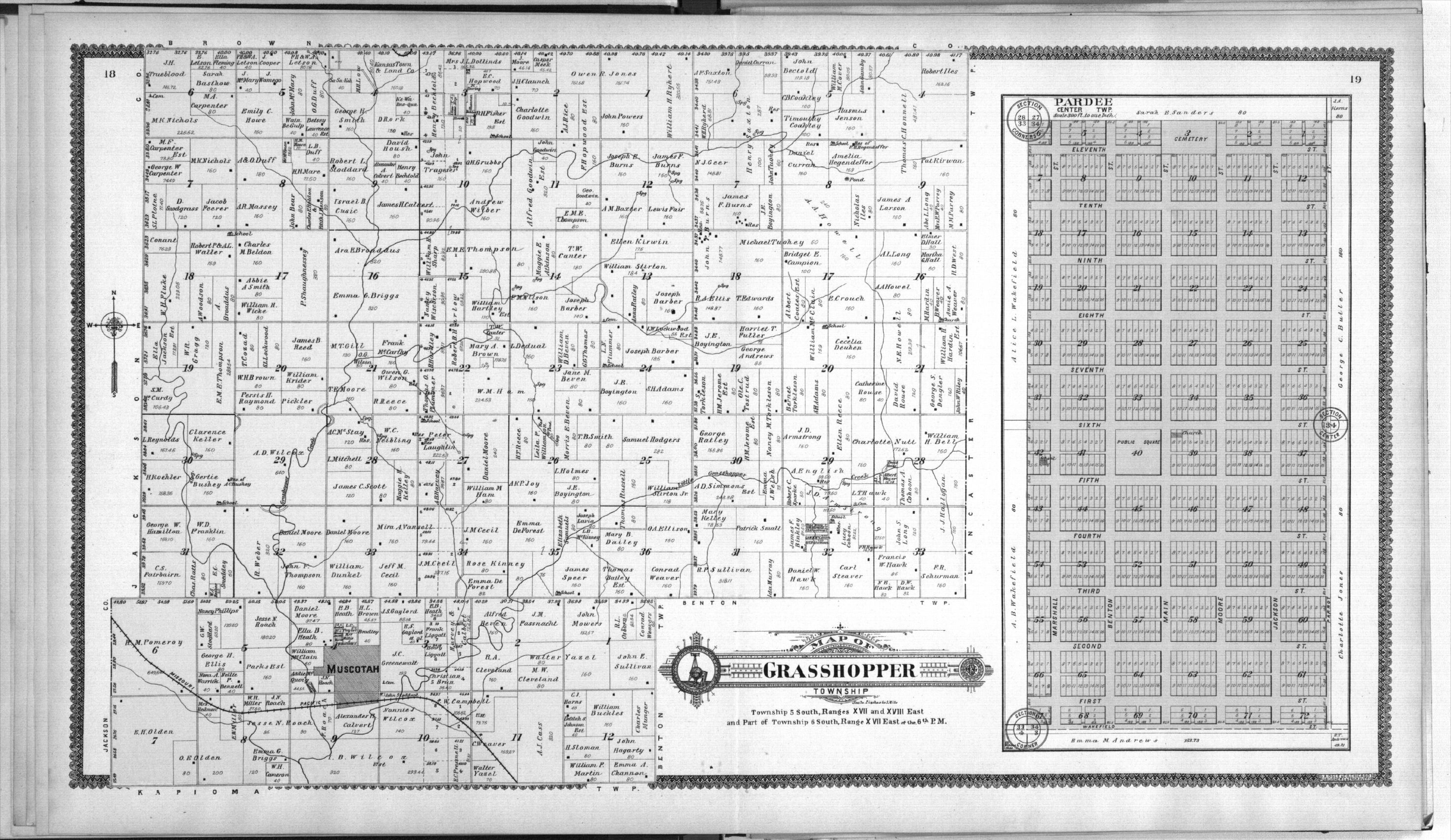 Standard atlas of Atchison County, Kansas - 18 & 19