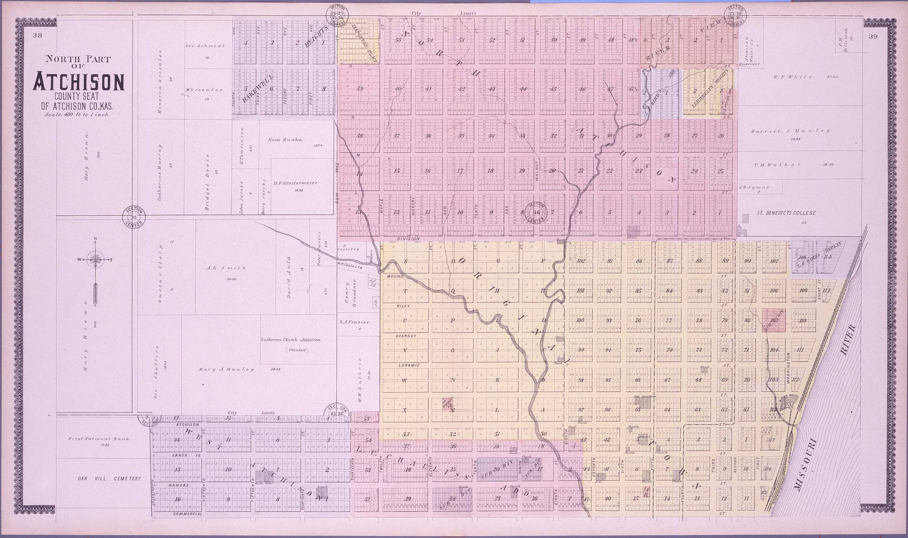 Standard atlas of Atchison County, Kansas - 38 & 39