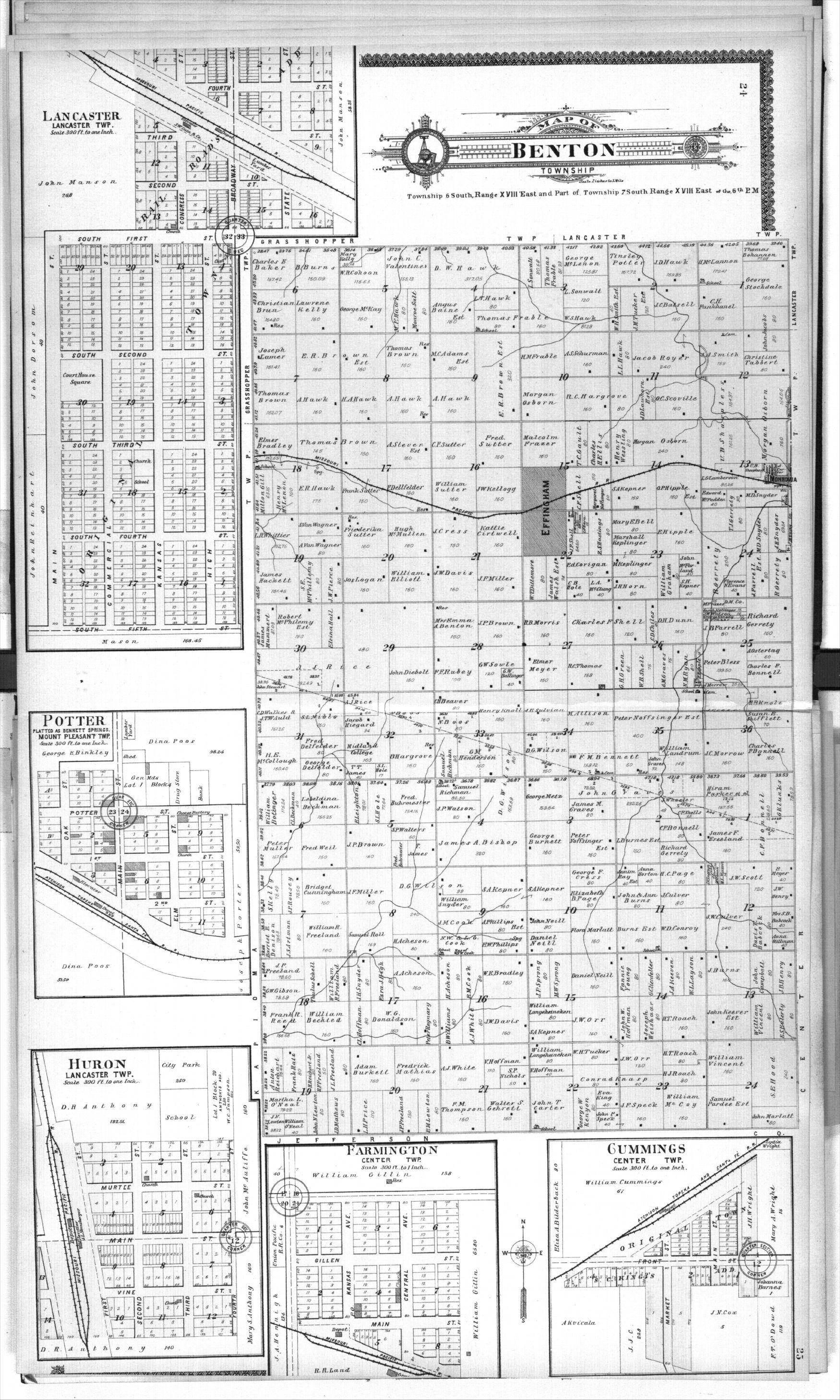 Standard atlas of Atchison County, Kansas - 24 & 25