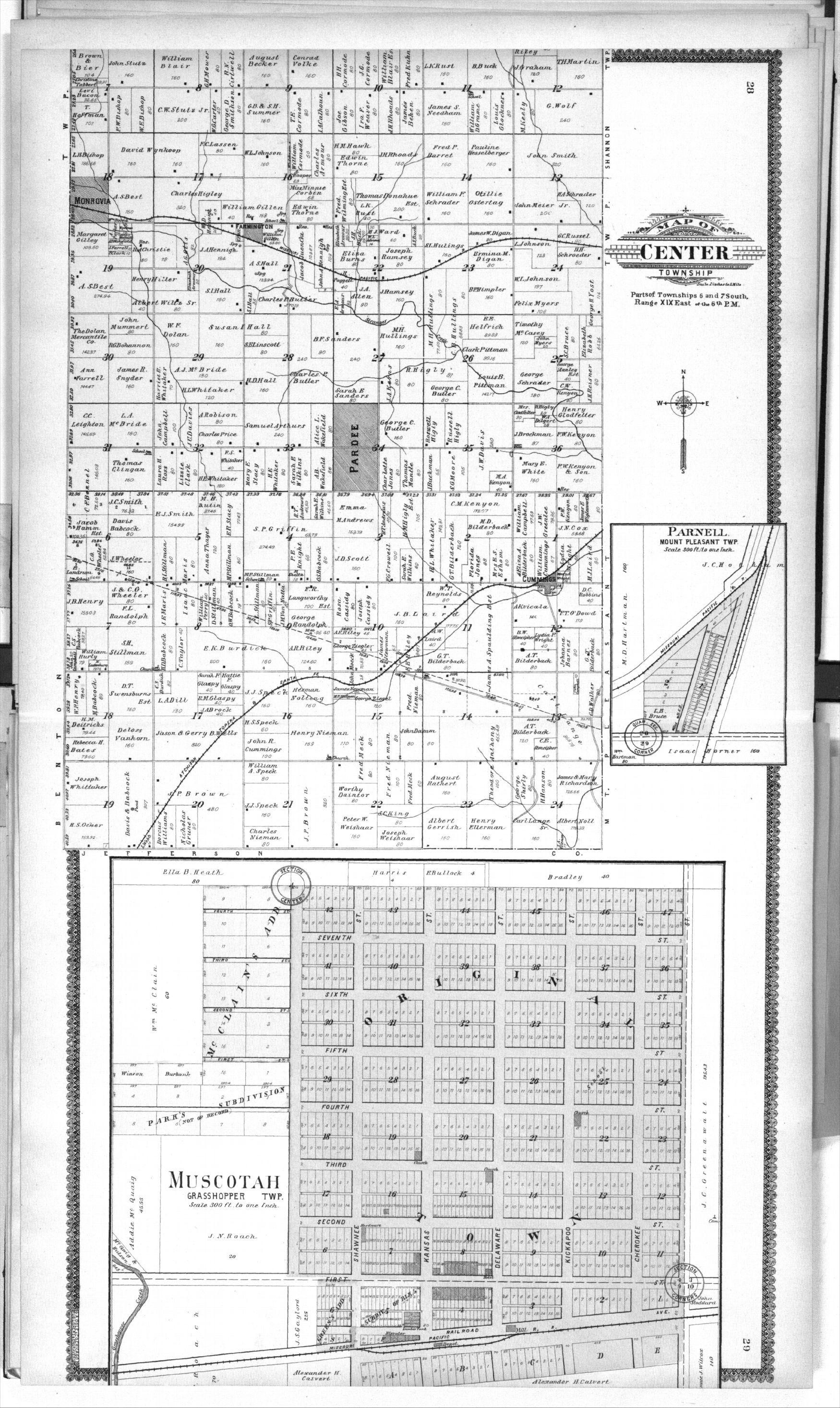 Standard atlas of Atchison County, Kansas - 28 & 29