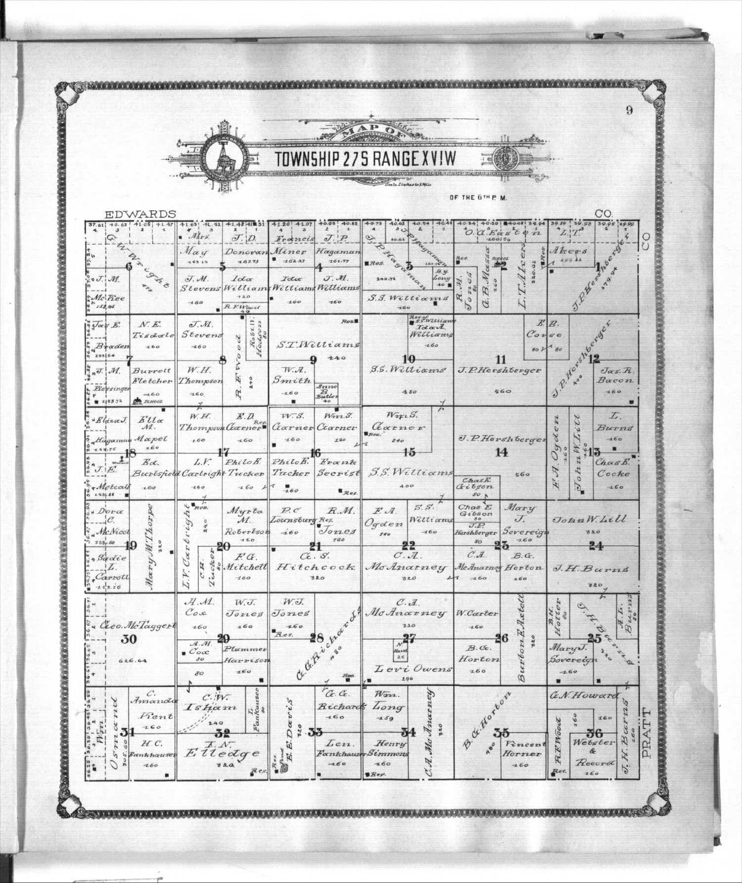 Standard atlas of Kiowa County, Kansas - 9