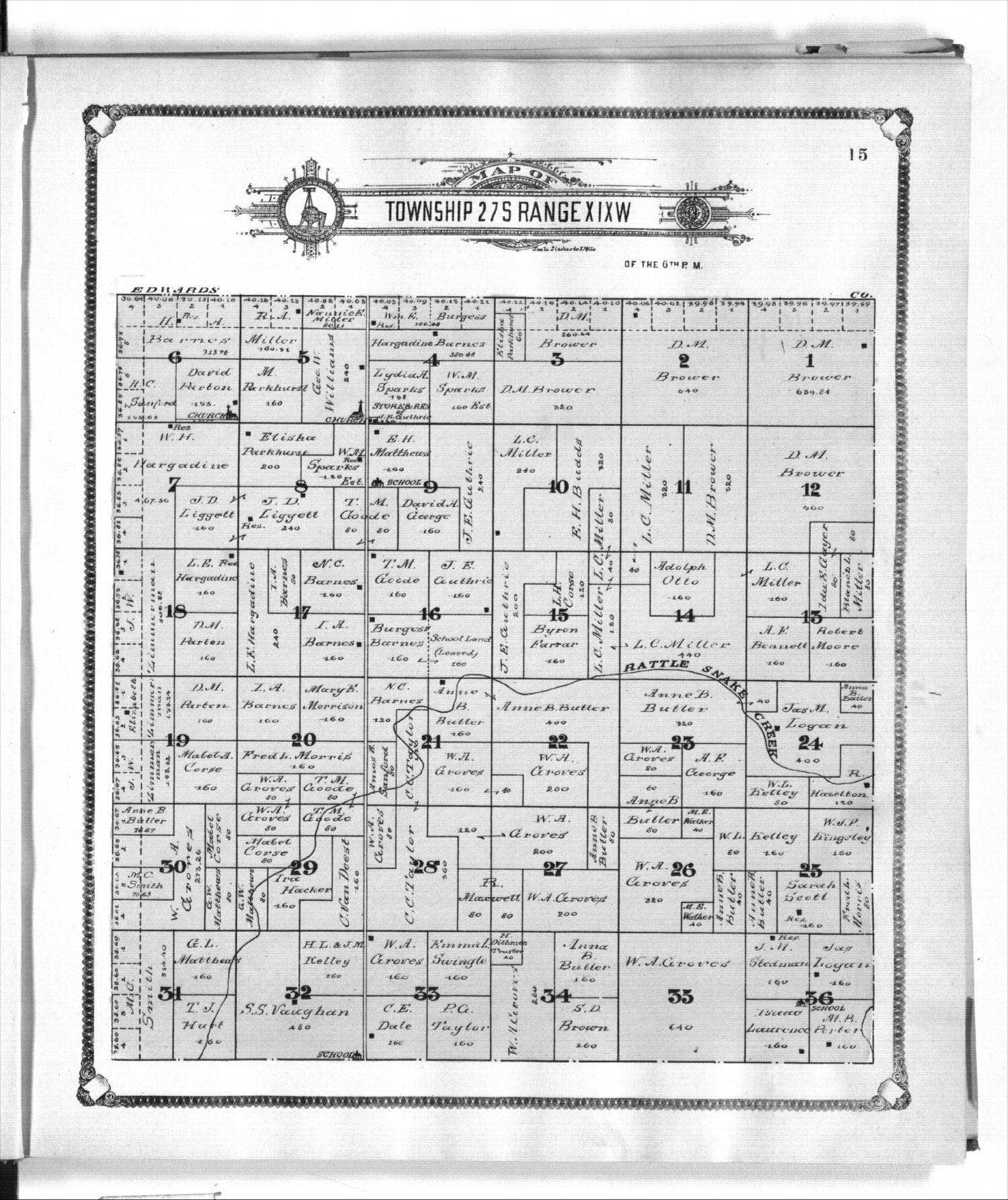 Standard atlas of Kiowa County, Kansas - 15