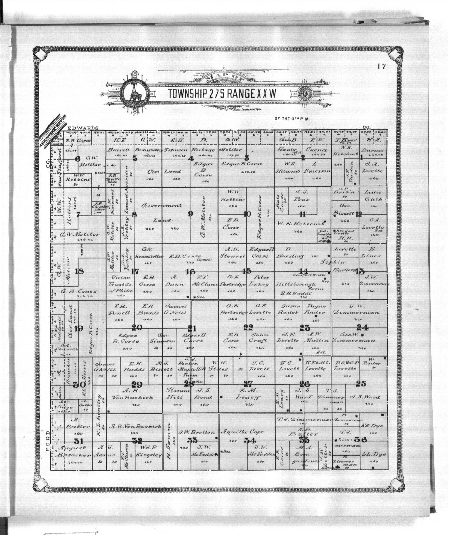 Standard atlas of Kiowa County, Kansas - 17