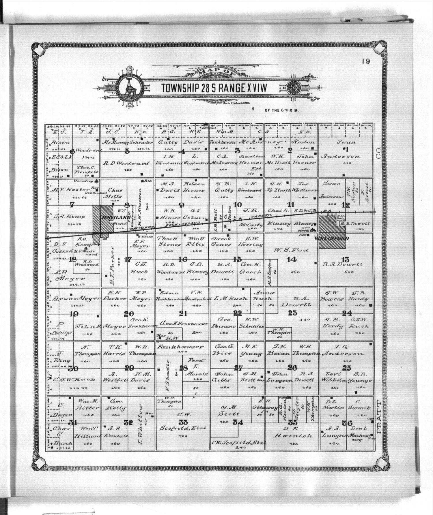 Standard atlas of Kiowa County, Kansas - 19
