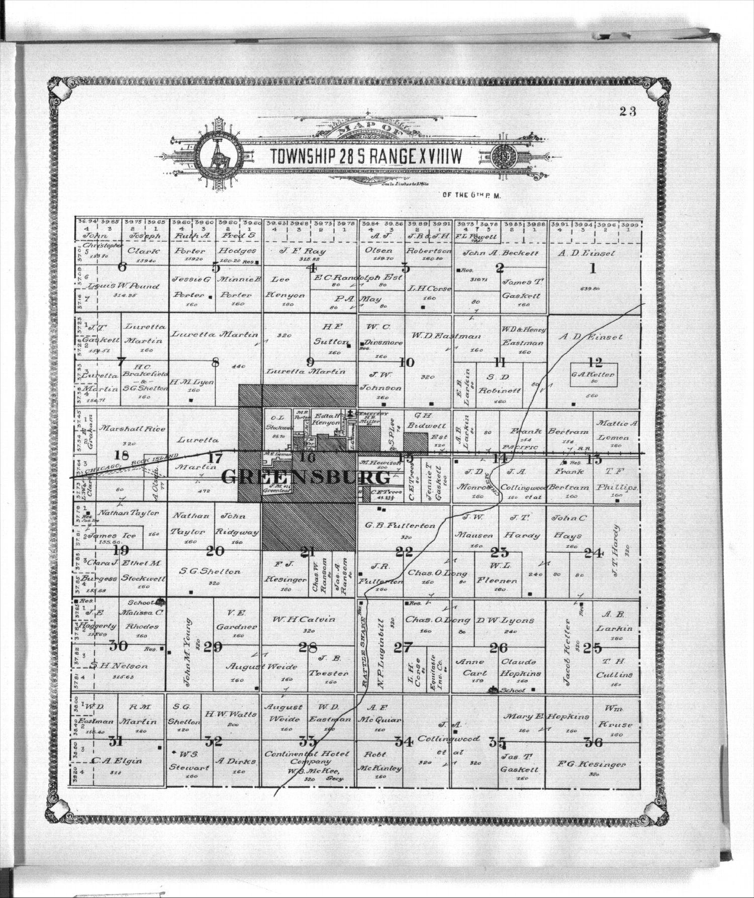 Standard atlas of Kiowa County, Kansas - 23