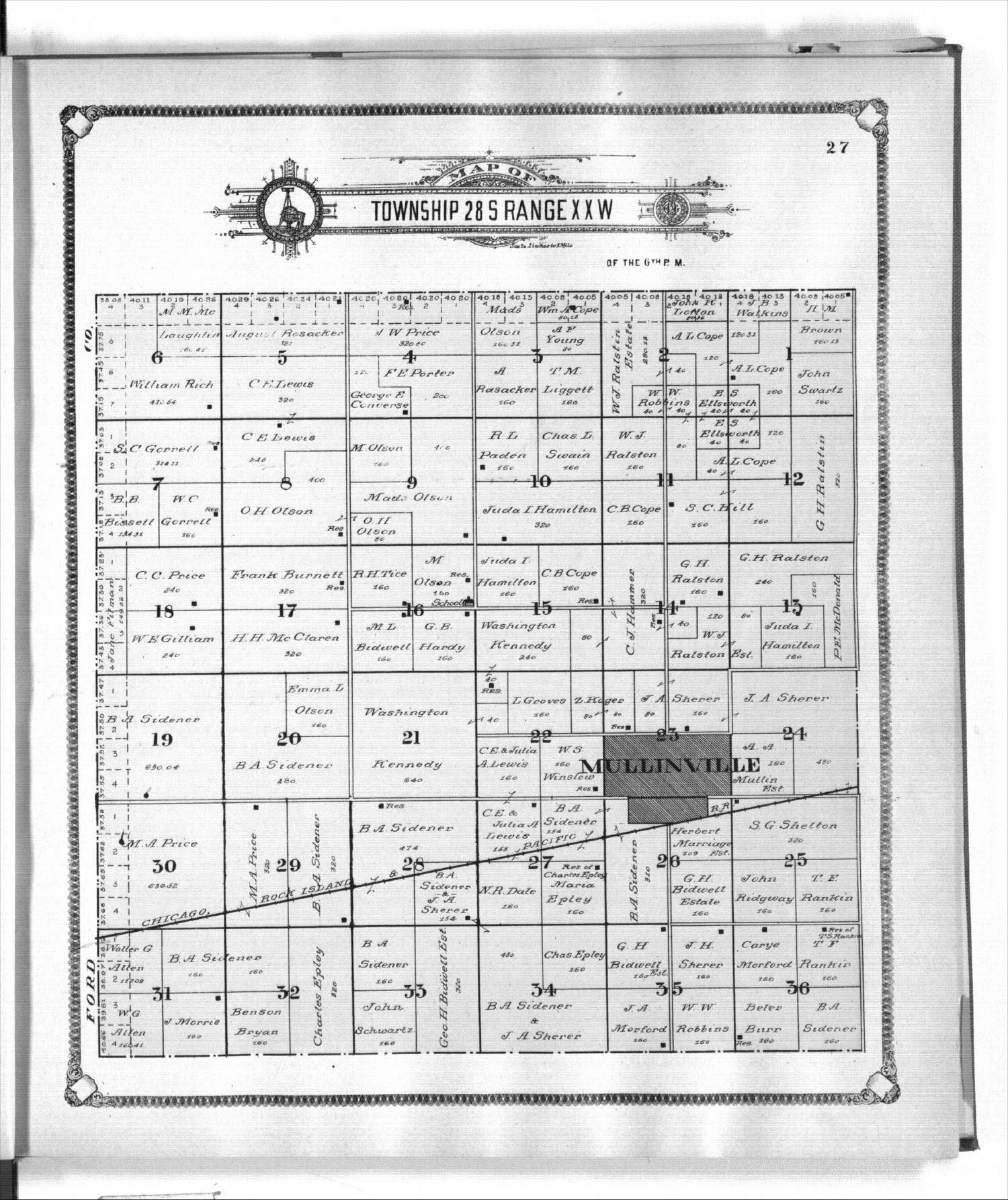 Standard atlas of Kiowa County, Kansas - 27