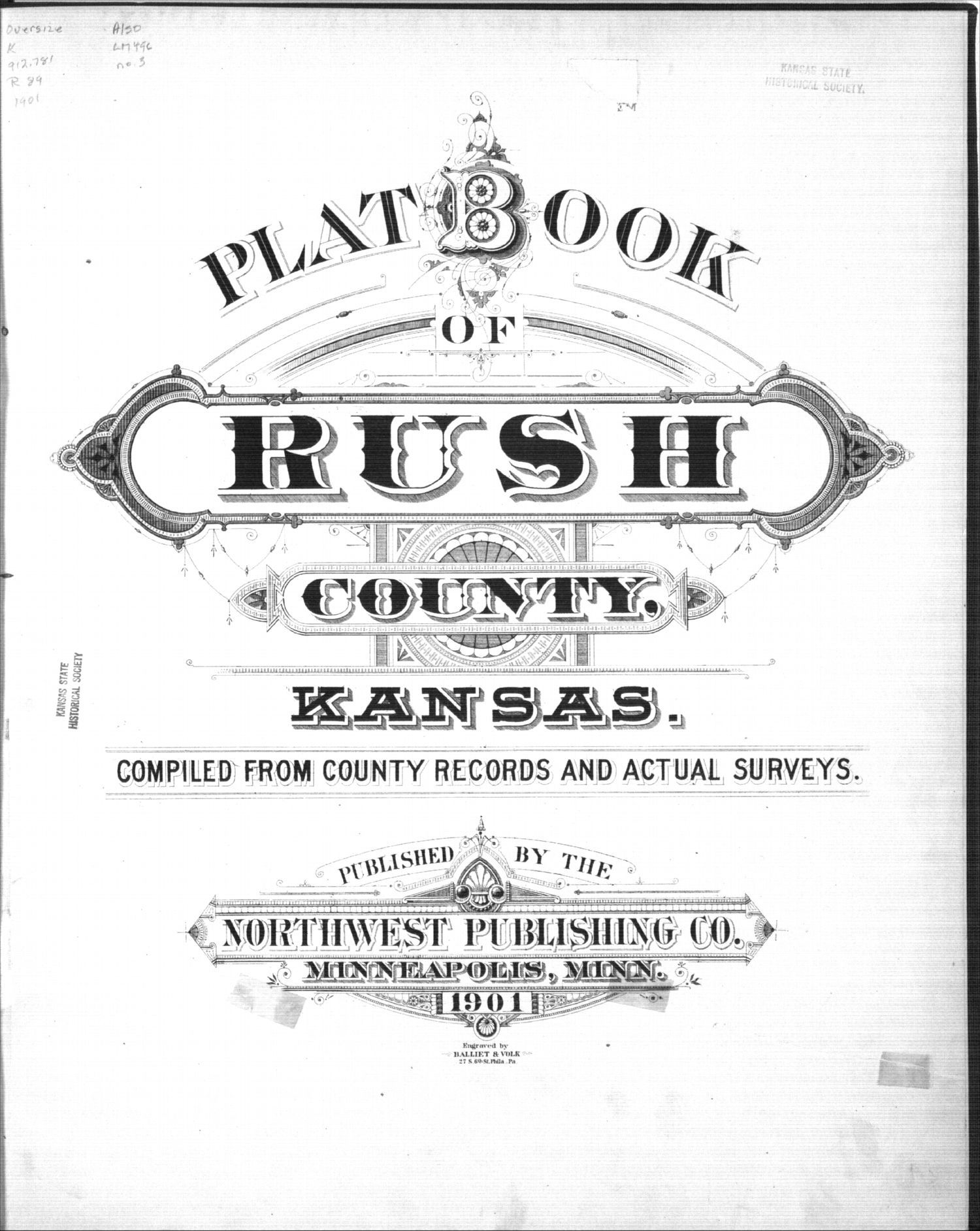 Plat book, Rush County, Kansas - Title Page