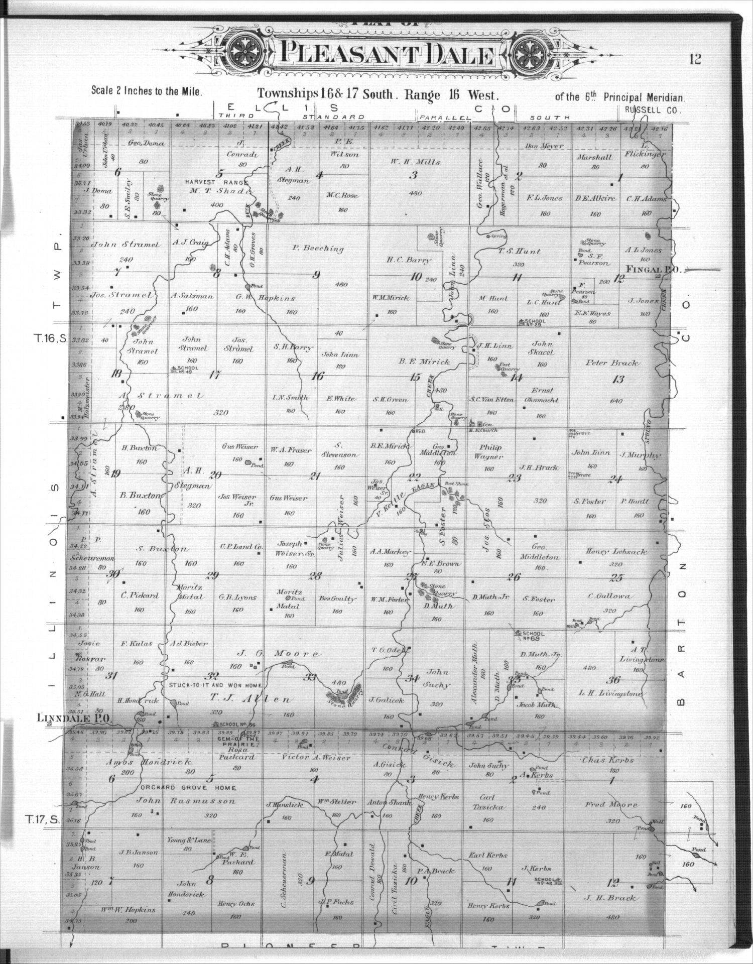 Plat book, Rush County, Kansas - 12