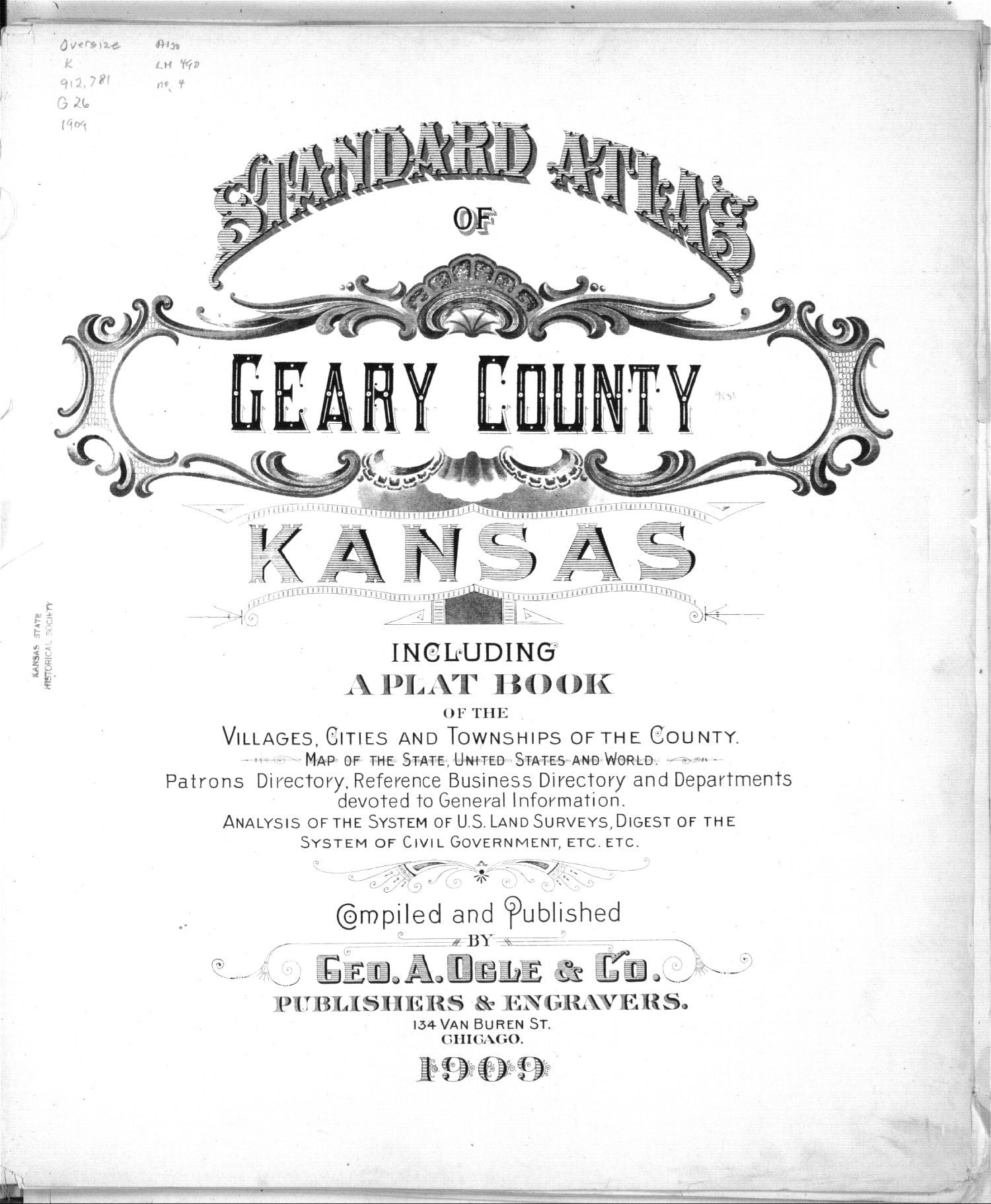 Standard atlas of Geary County, Kansas - Title Page