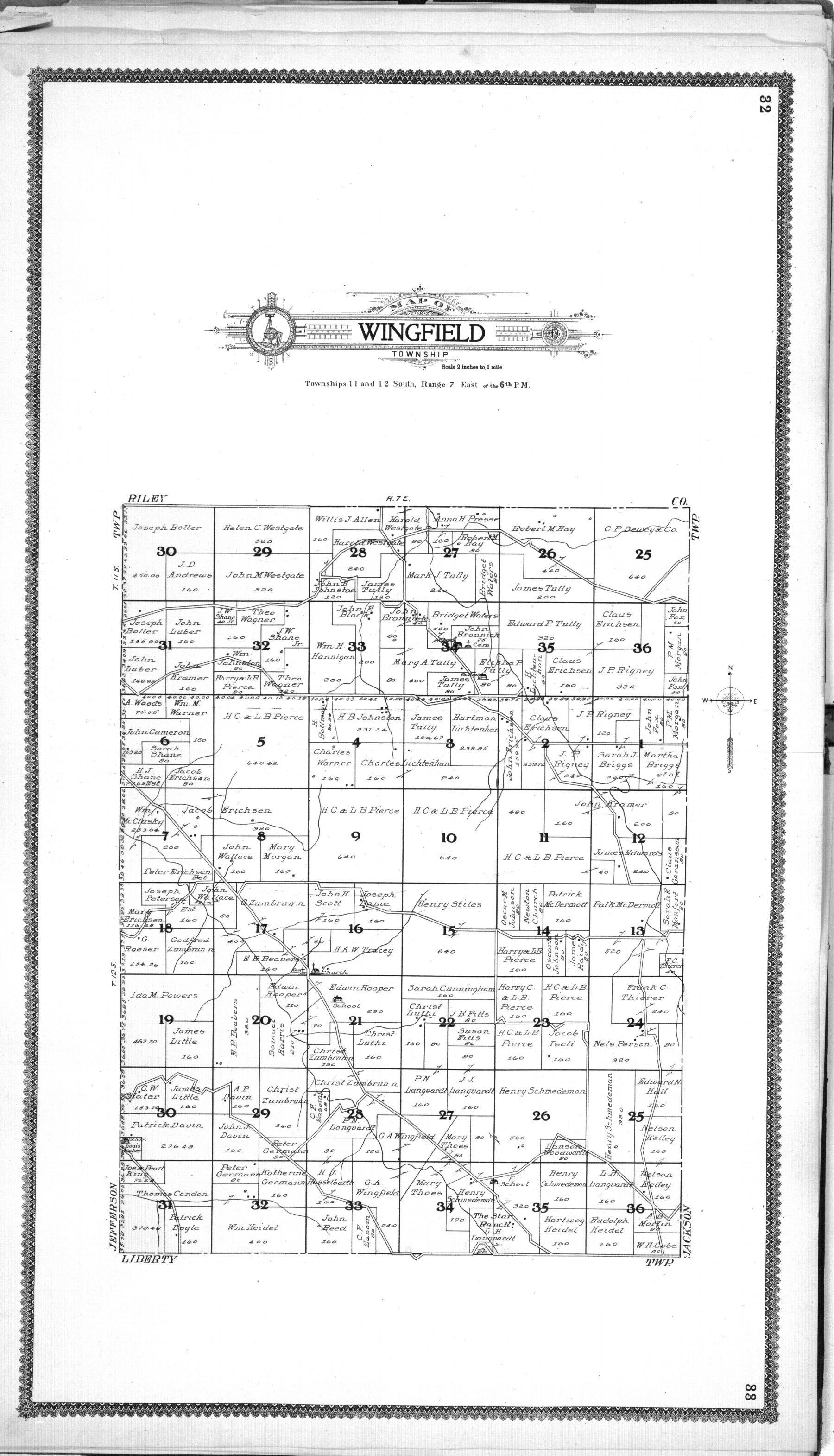 Standard atlas of Geary County, Kansas - 32 & 33
