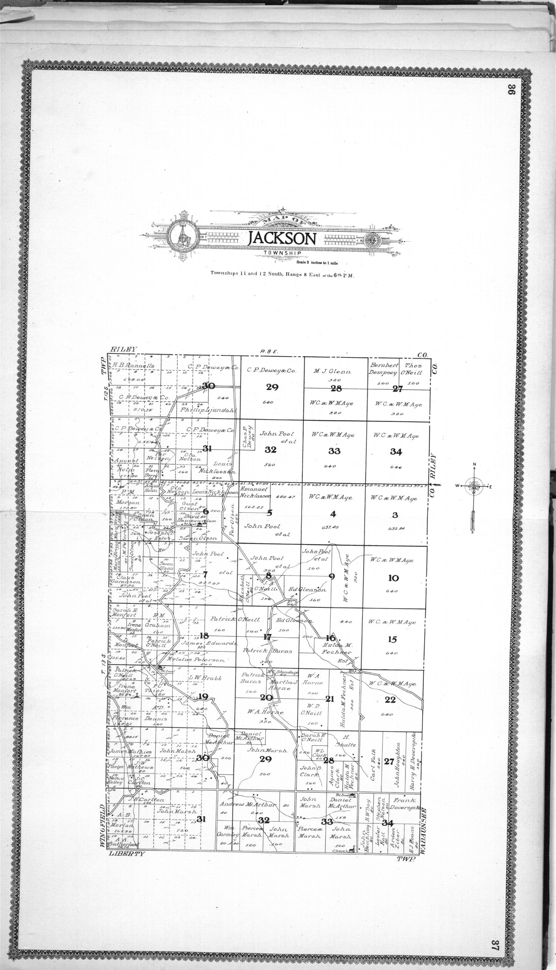 Standard atlas of Geary County, Kansas - 36 & 37