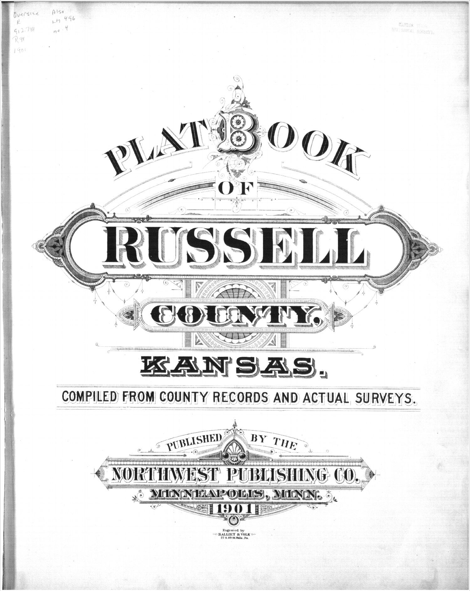 Plat book, Russell County, Kansas - Title Page
