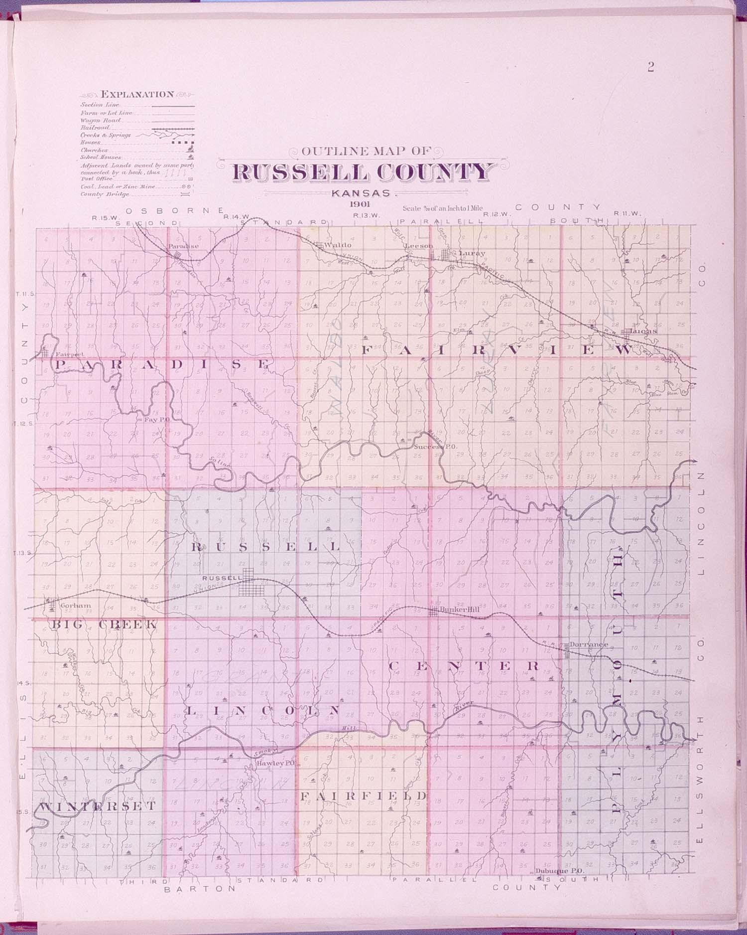 Plat book, Russell County, Kansas - 2