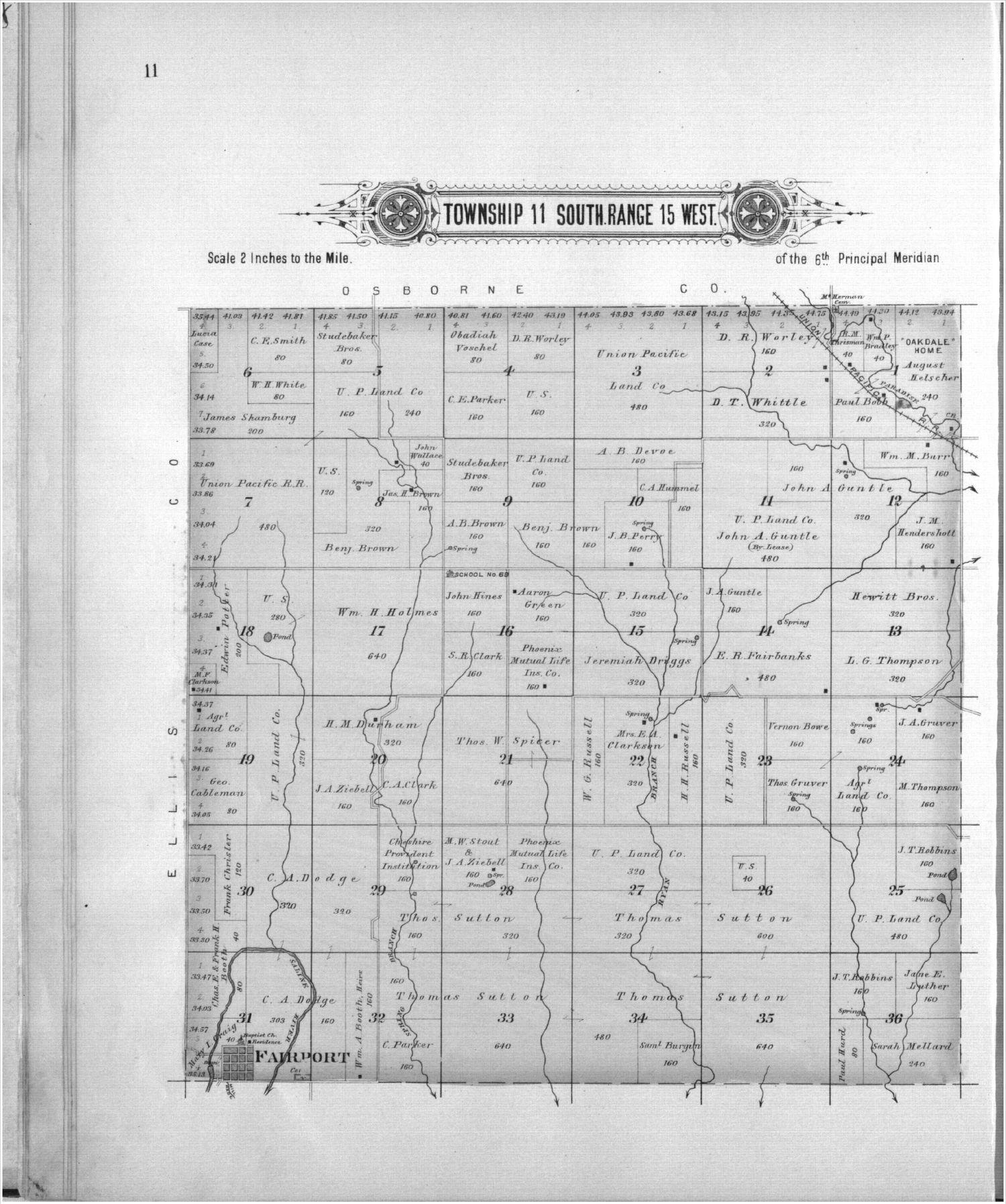 Plat book, Russell County, Kansas - 11