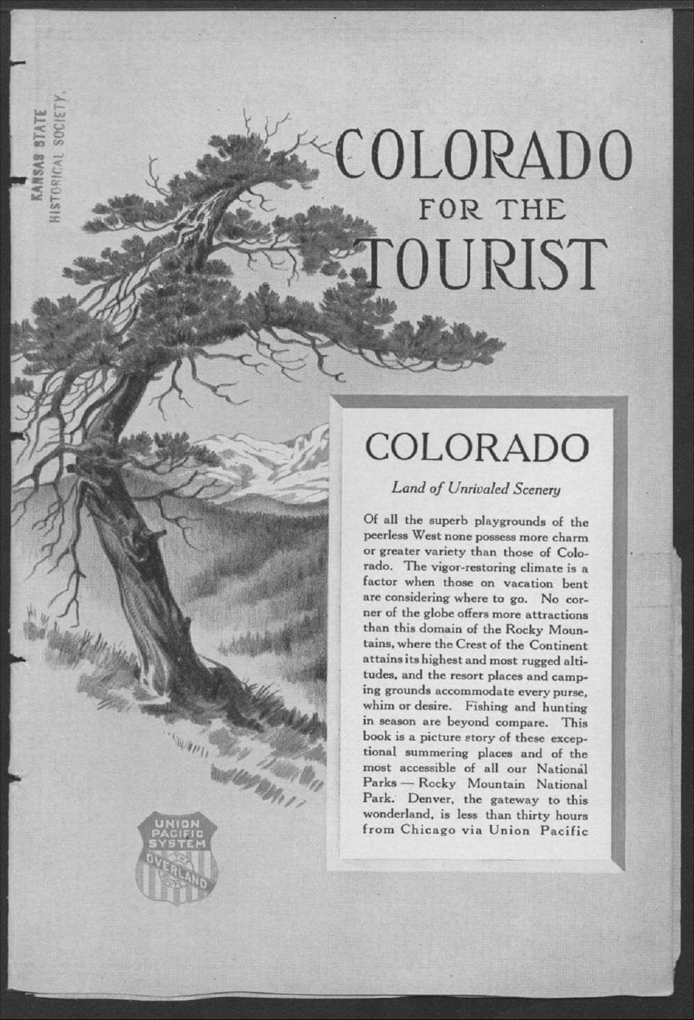 Colorado for the tourist - Title Page