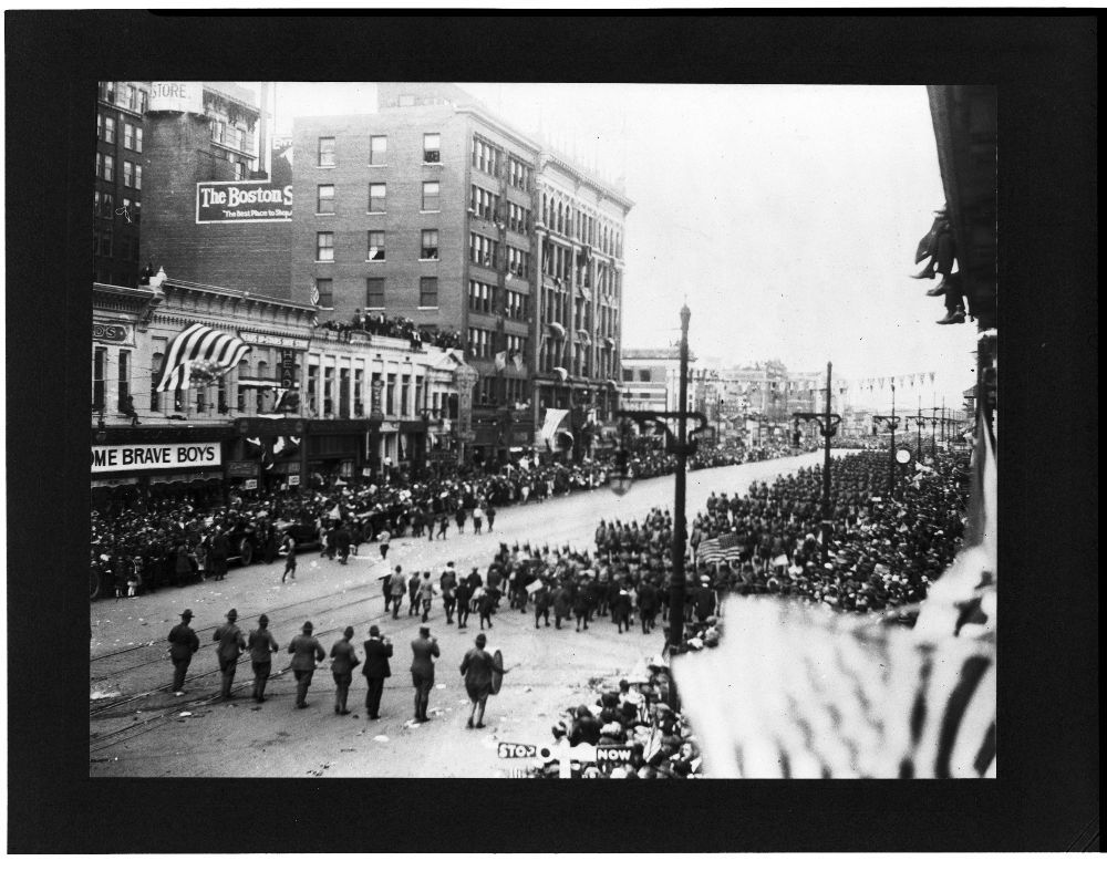 World War I parade, Wichita, Kansas