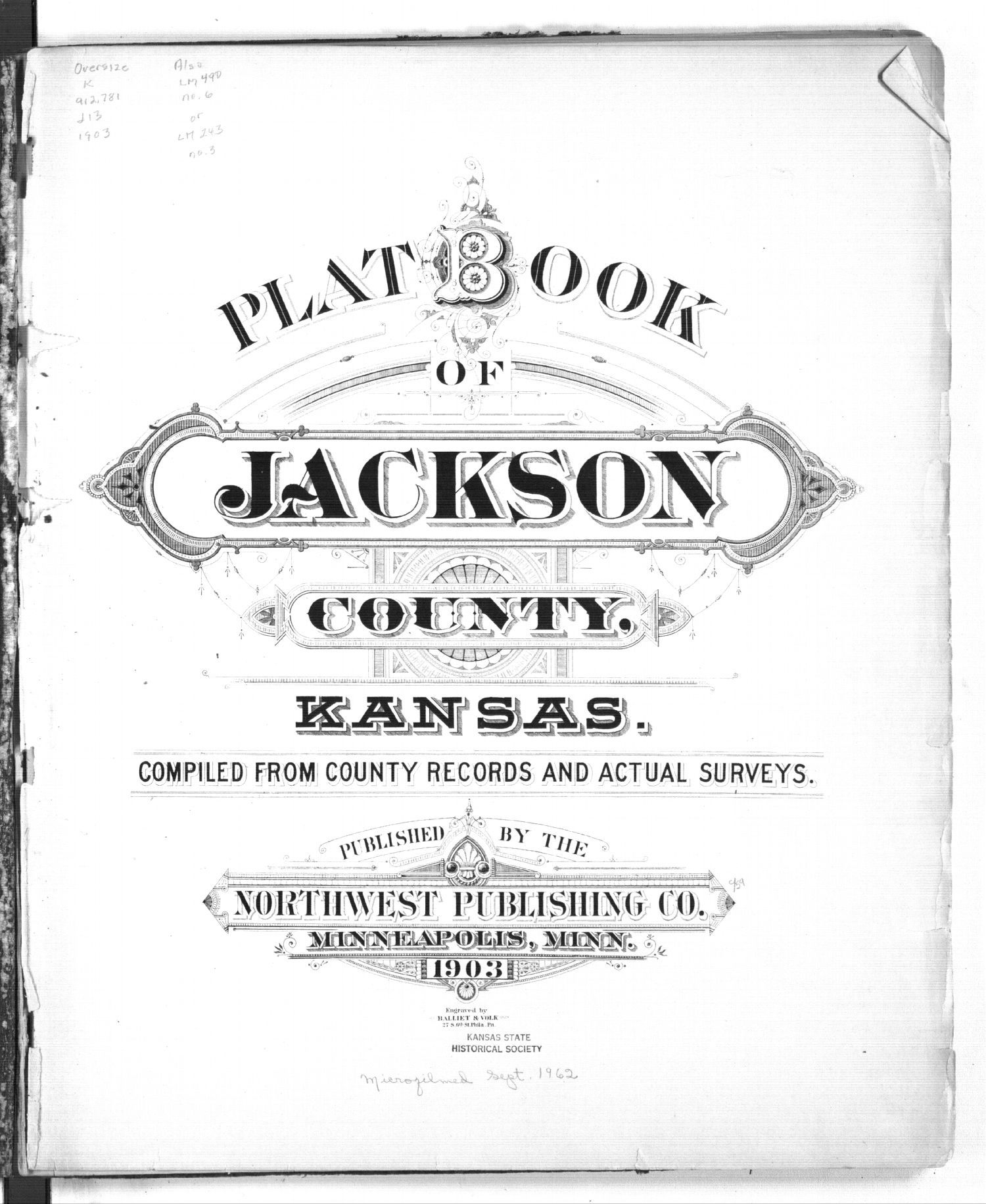 Plat book of Jackson County, Kansas - Title Page