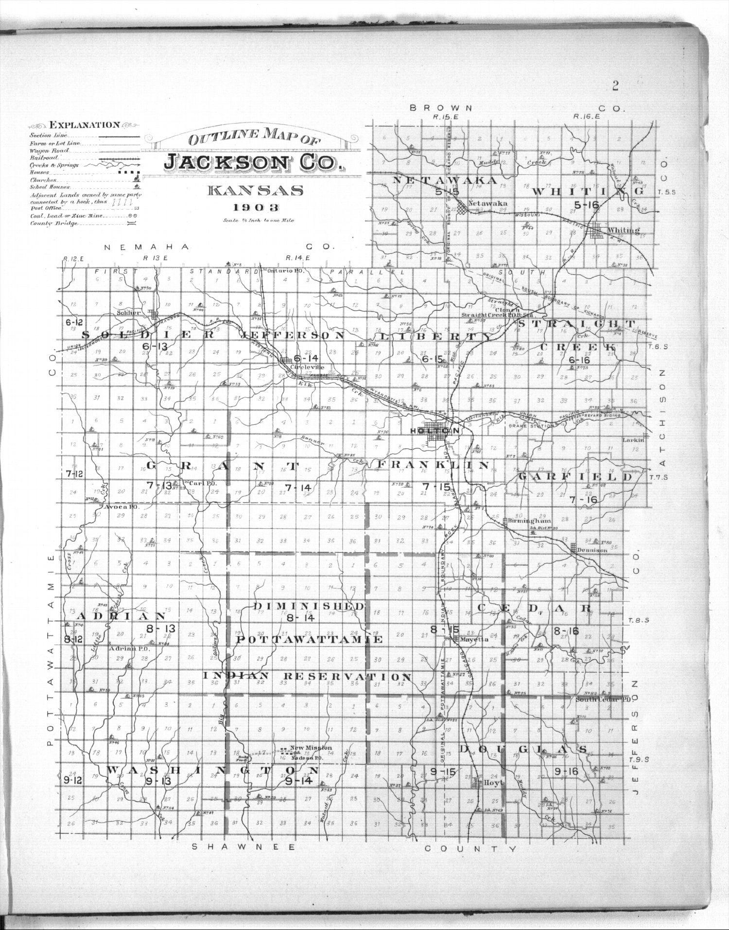 Plat book of Jackson County, Kansas - 2