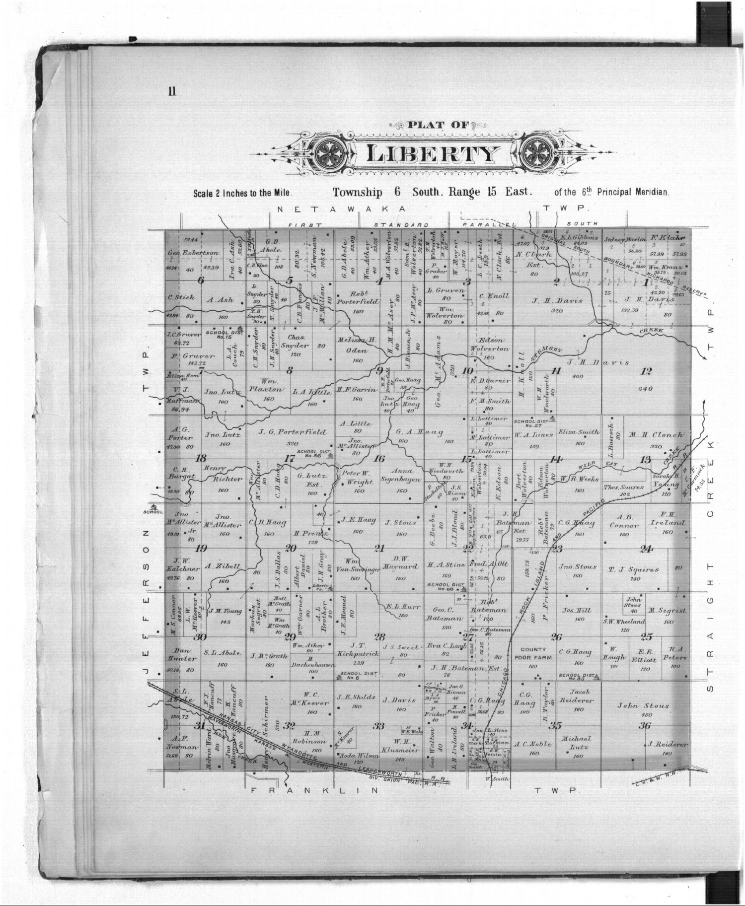 Plat book of Jackson County, Kansas - 11