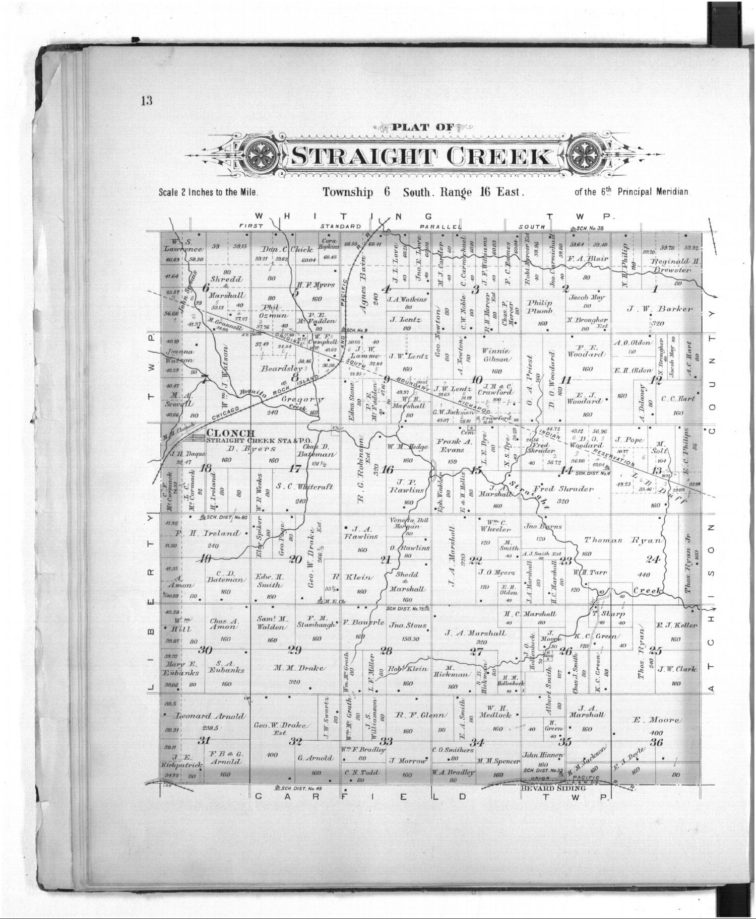 Kansas harper county danville - On The County Map Straight Creek Can Be Found In Township 6 South And Range 16 East On The Township Map Straight Can Be Found In Section 18