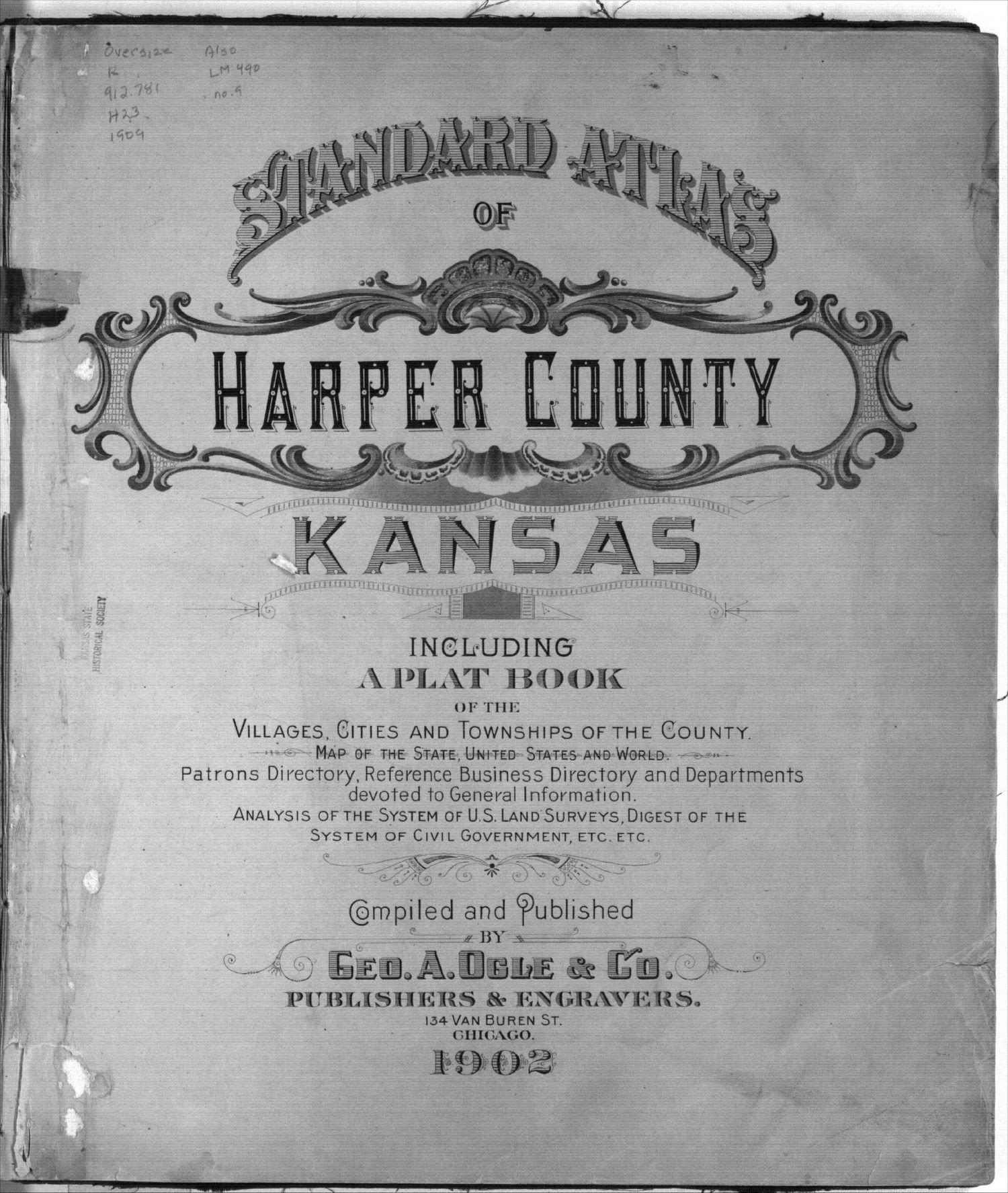 Standard atlas of Harper County, Kansas - Title Page