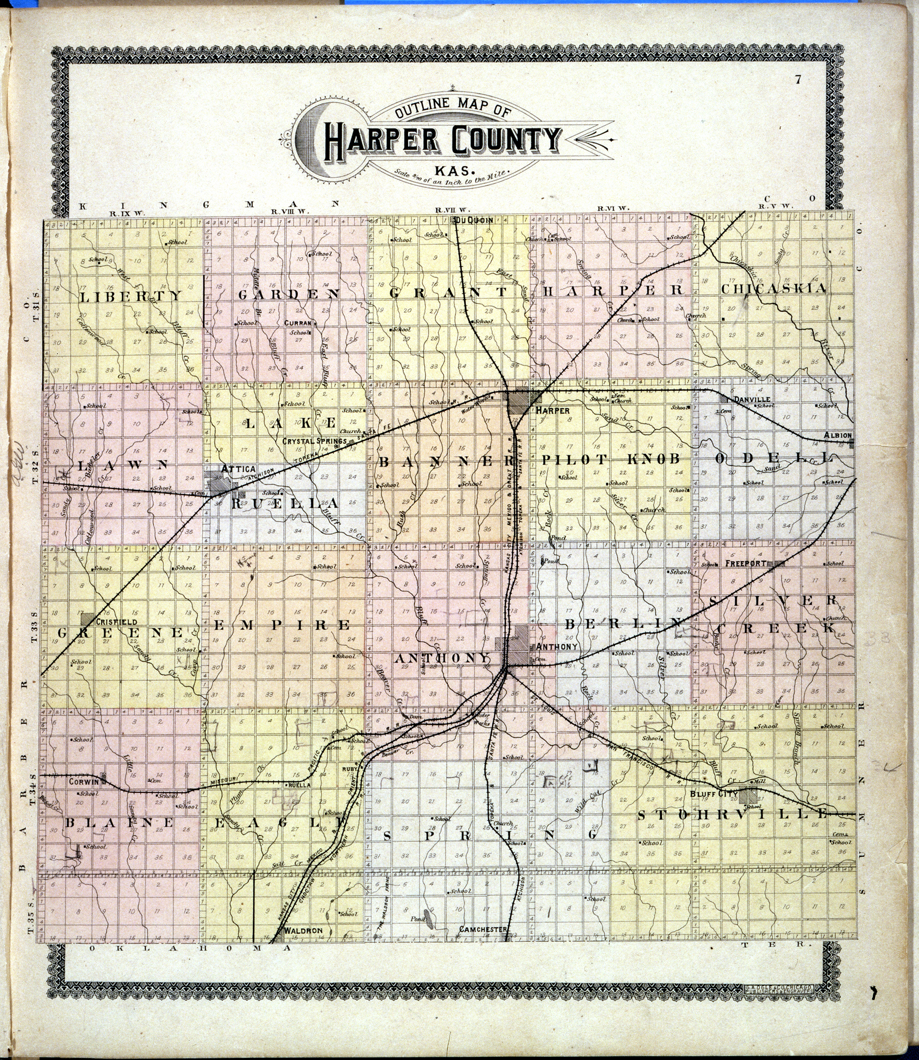 Standard atlas of Harper County, Kansas - 7