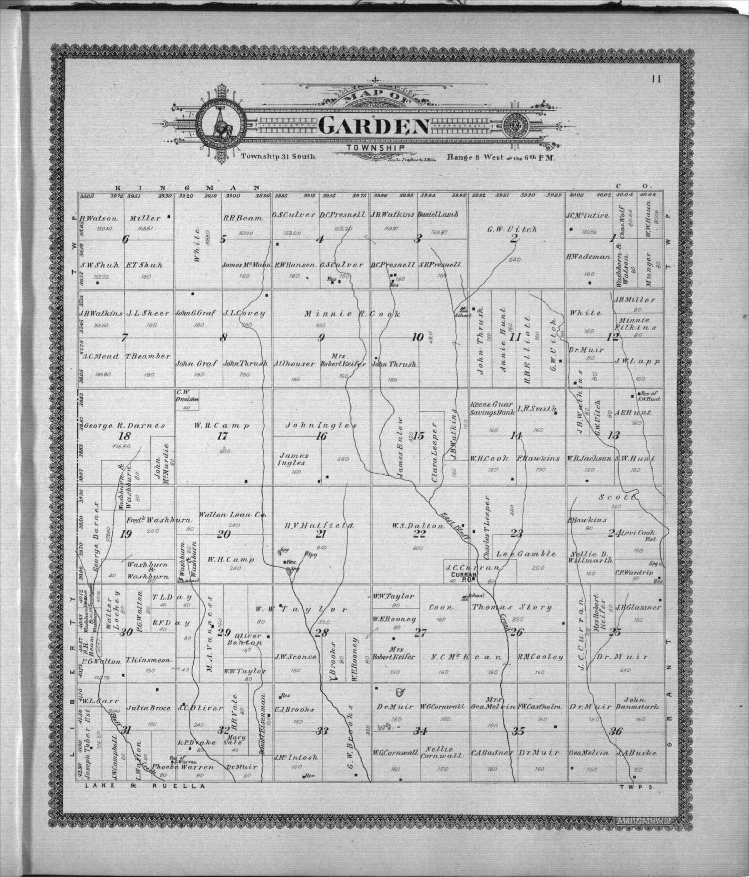 Standard atlas of Harper County, Kansas - 11