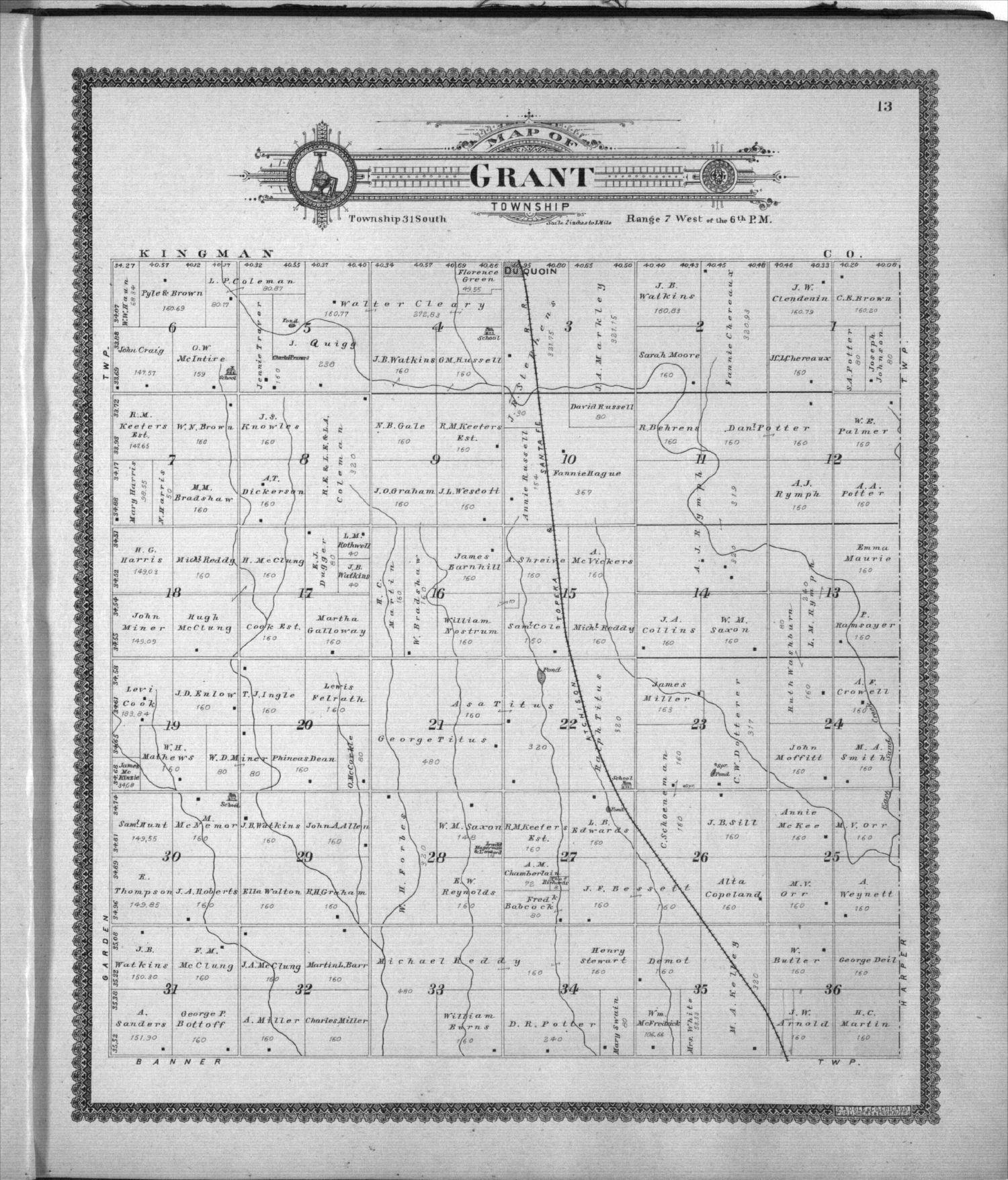 Standard atlas of Harper County, Kansas - 13