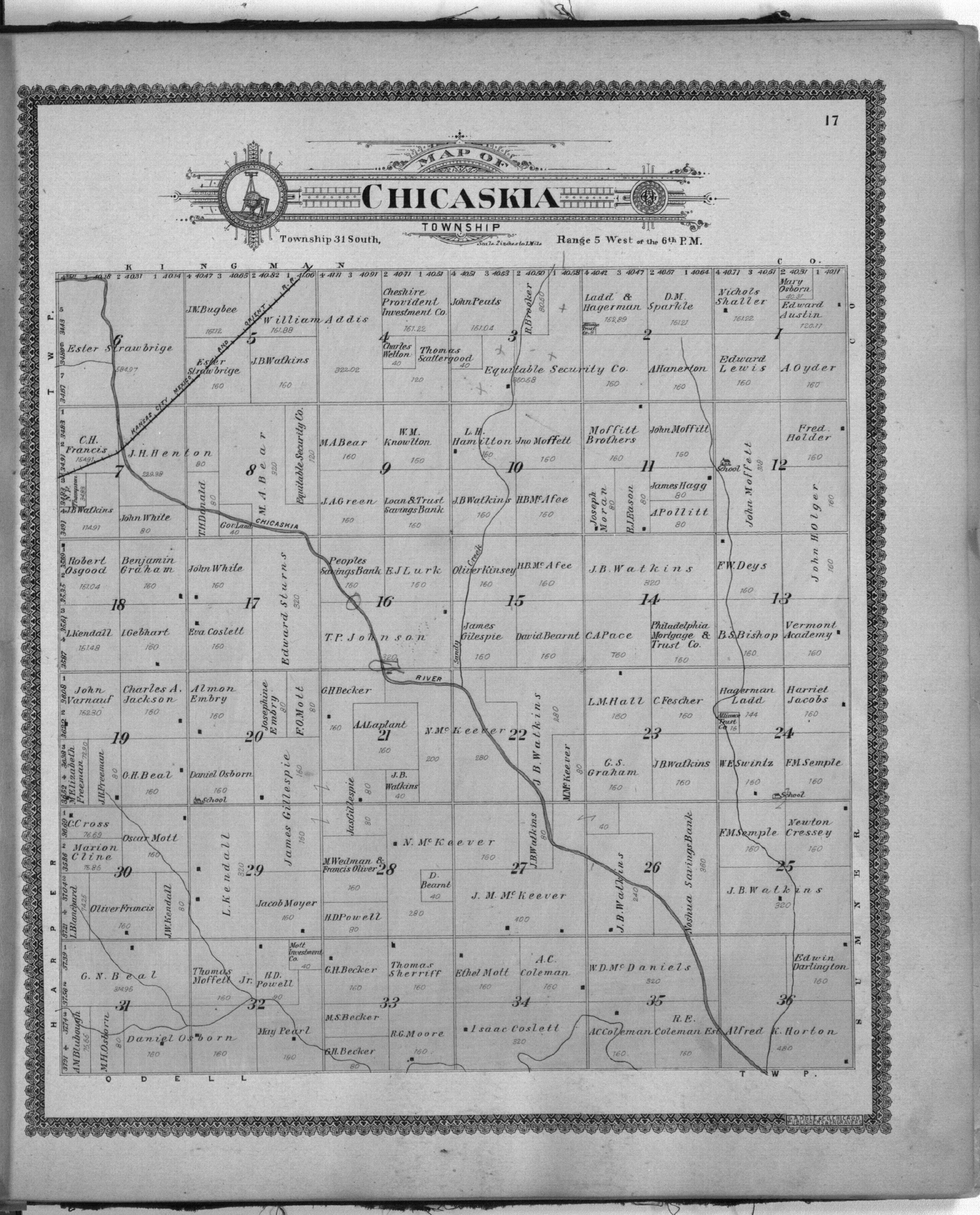 Standard atlas of Harper County, Kansas - 17