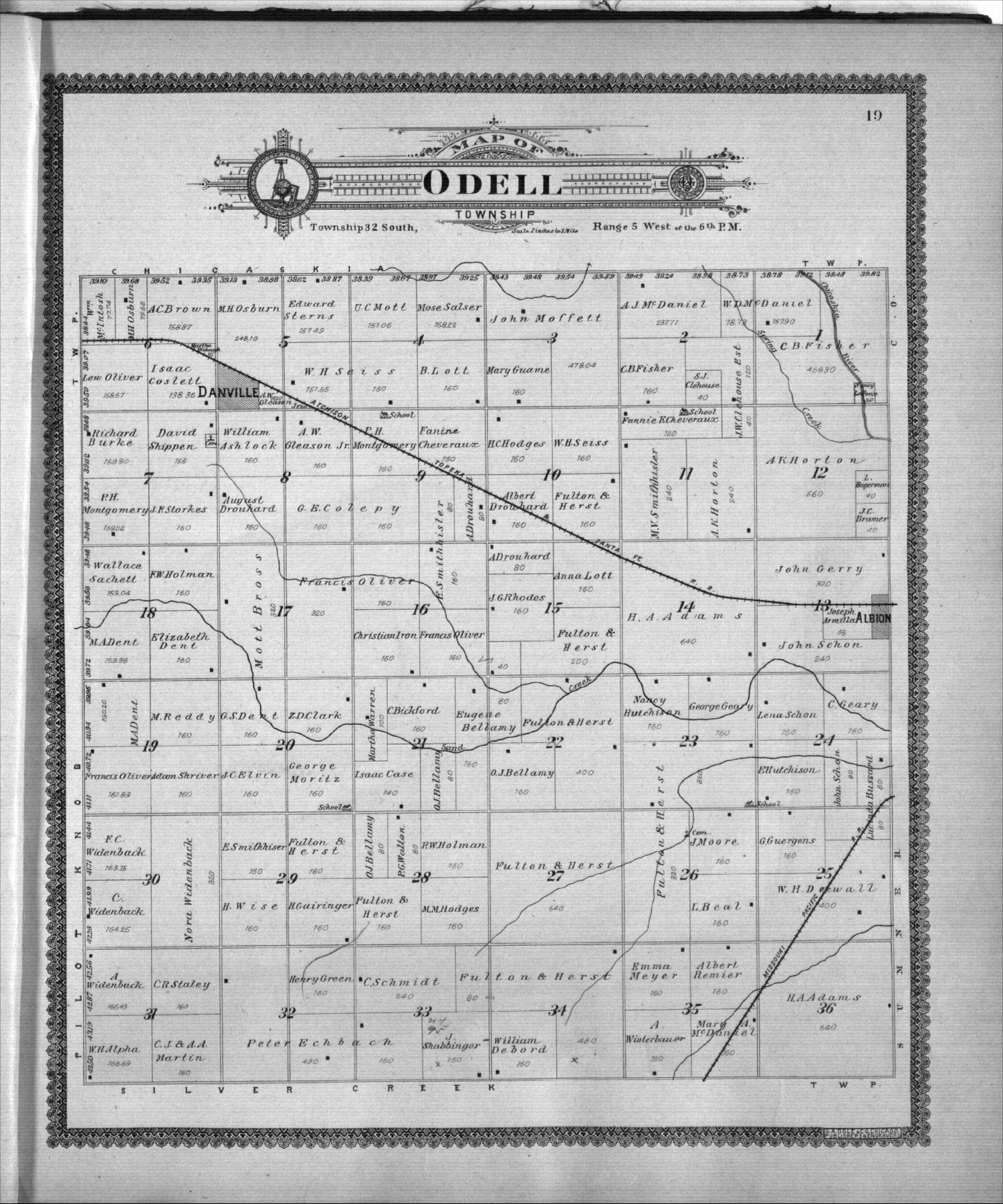 Standard atlas of Harper County, Kansas - 19