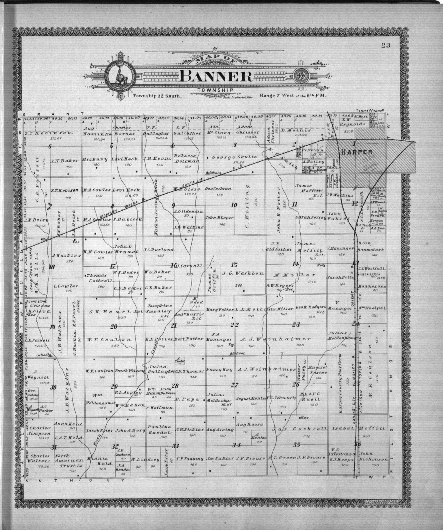 Standard atlas of Harper County, Kansas - 23