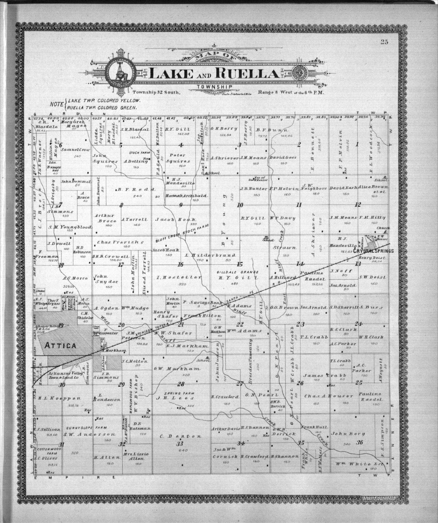 Standard atlas of Harper County, Kansas - 25