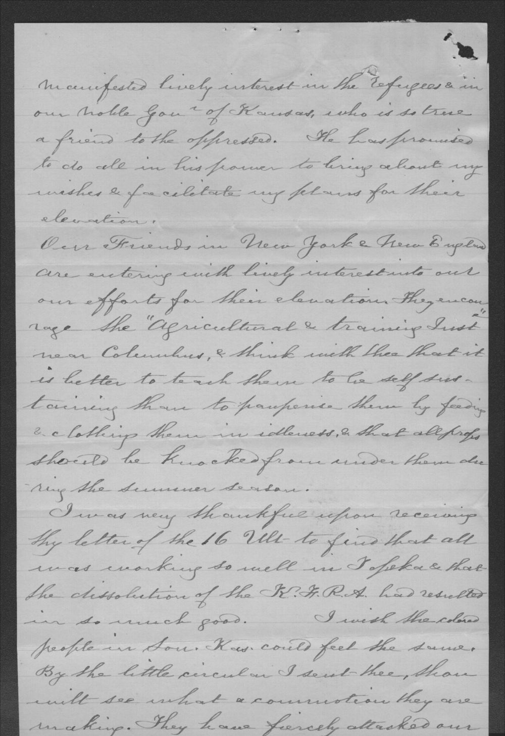 Elizabeth Comstock to John P. St. John - 2