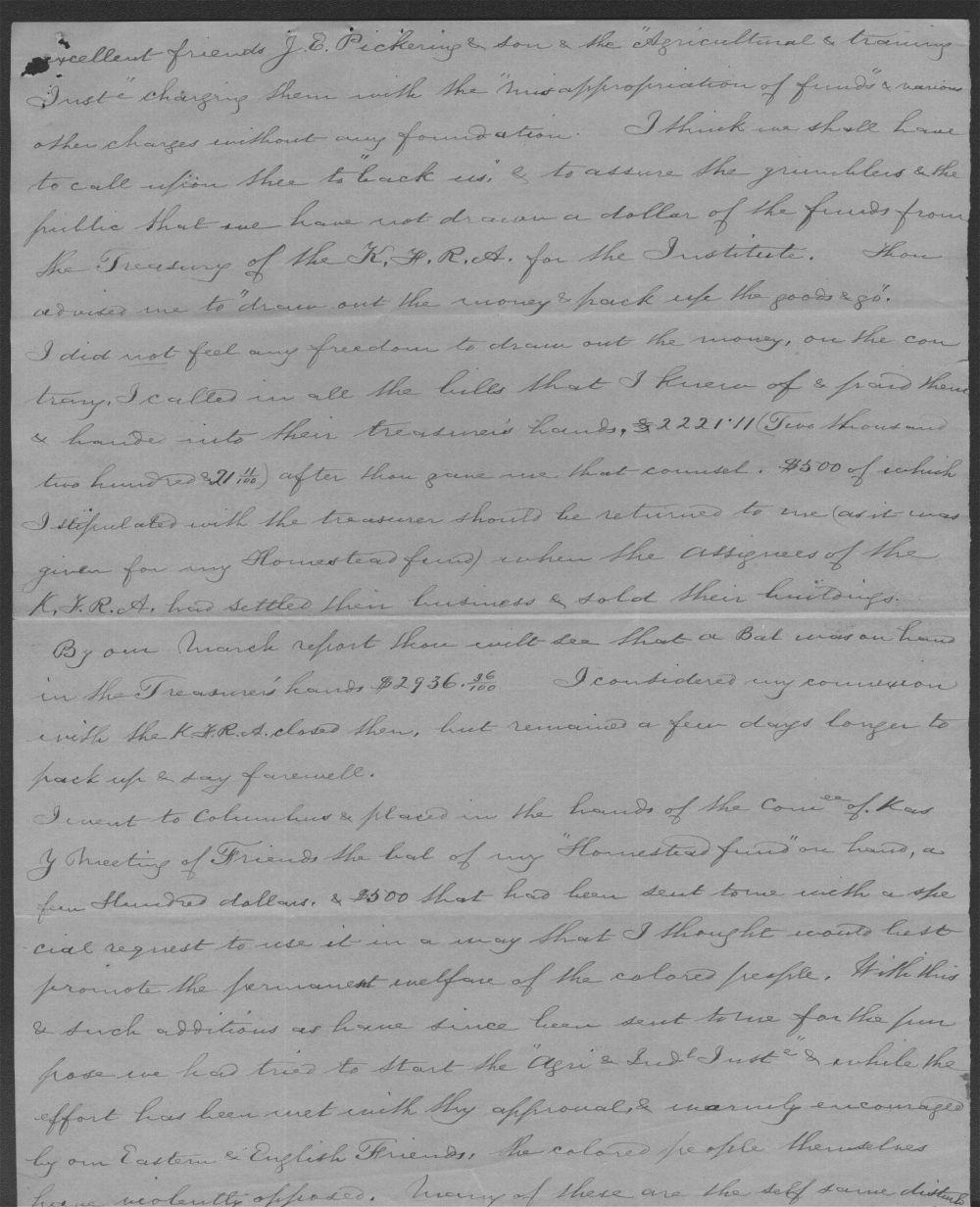 Elizabeth Comstock to John P. St. John - 3