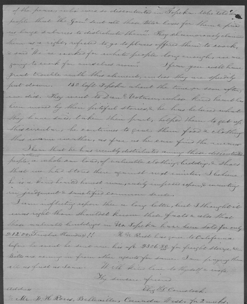 Elizabeth Comstock to John P. St. John - 4