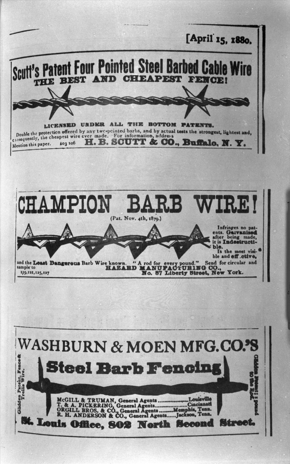 Barbed wire advertisements