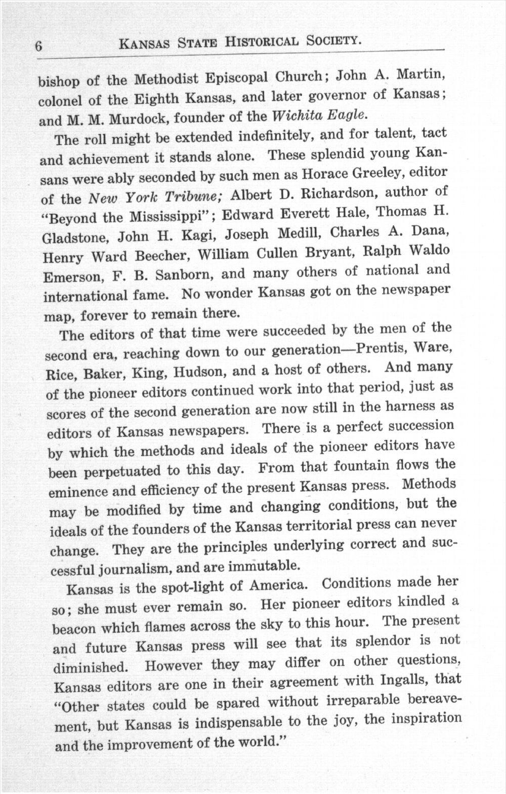 History of Kansas newspapers - 6