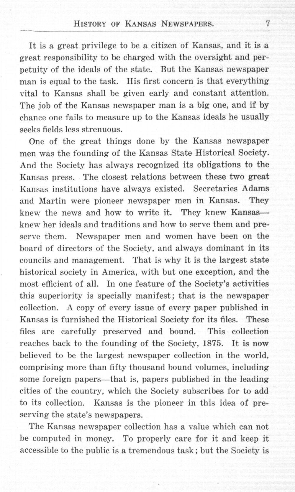 History of Kansas newspapers - 7