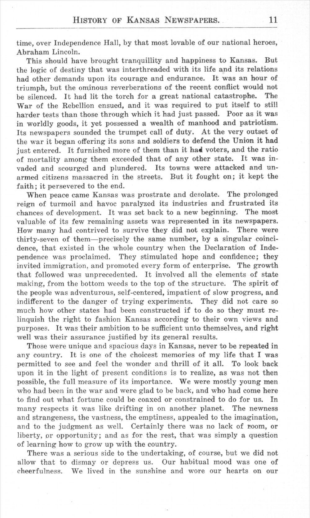 History of Kansas newspapers - 11